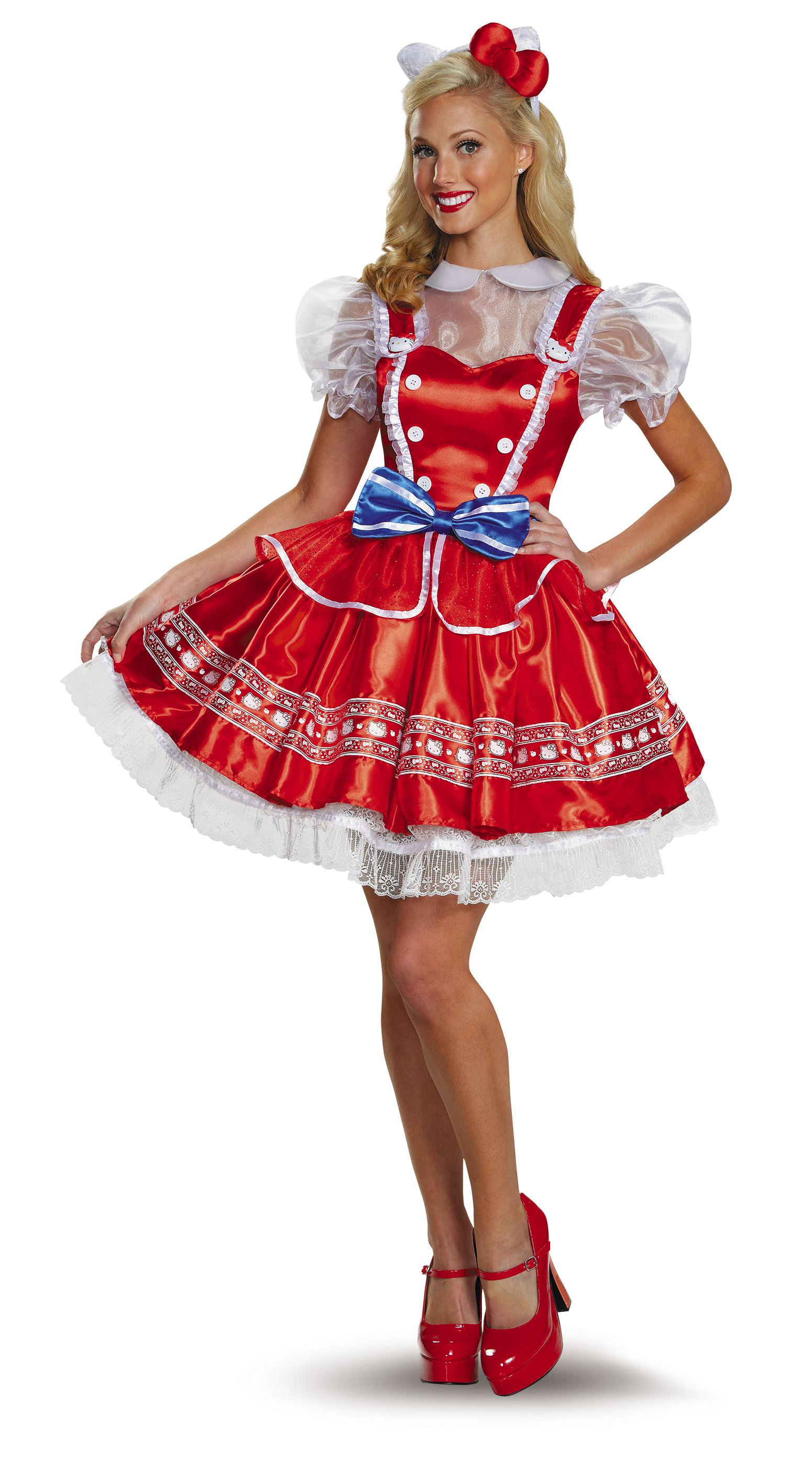 a2d098ae4 ... Adult Hello Kitty Woman Lolita Deluxe Costume. Click here to view Large  Image