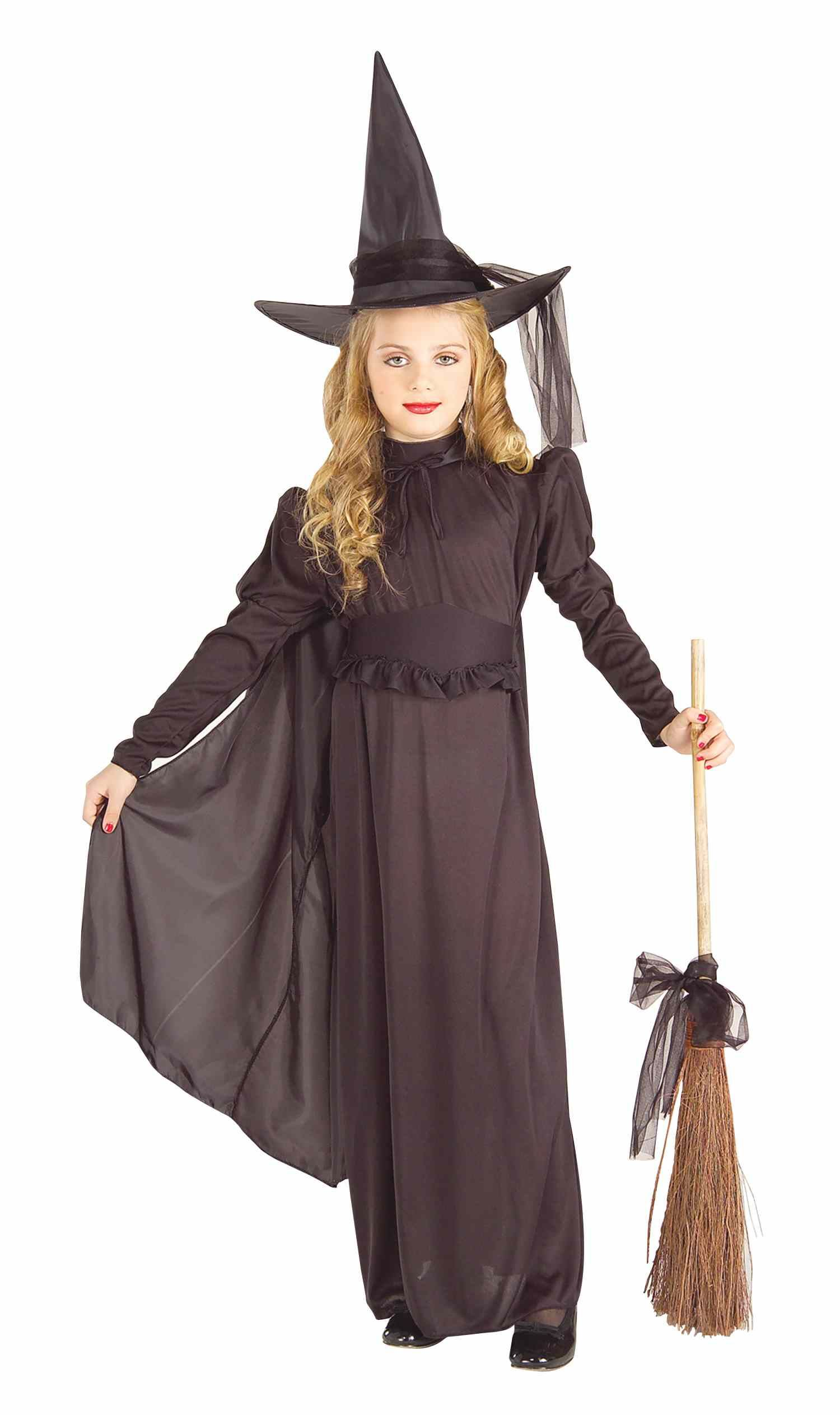 Kids Girls Classic Black Witch Costume | $17.99 | The Costume Land