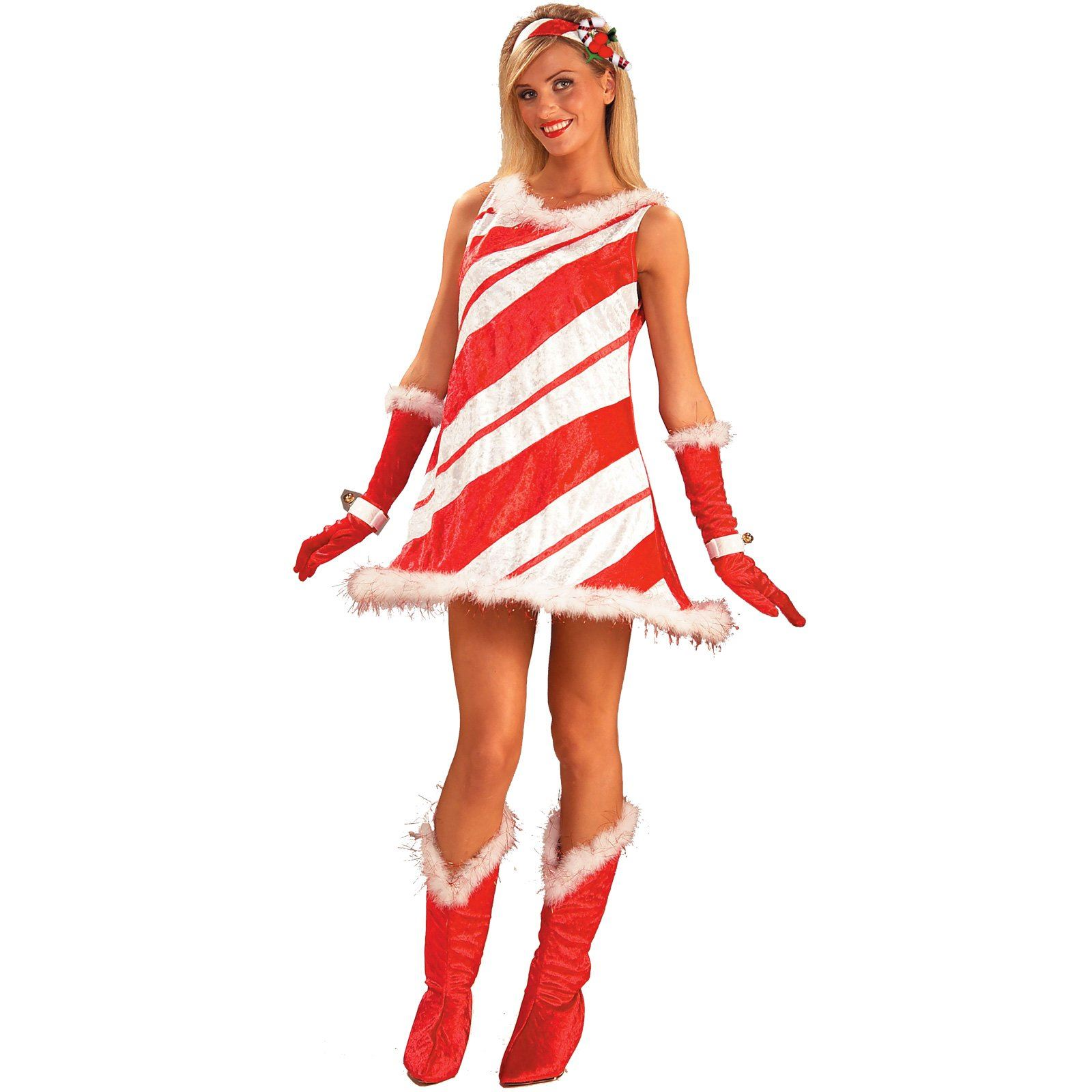 Miss candy cane woman halloween costume 33 99 the costume land