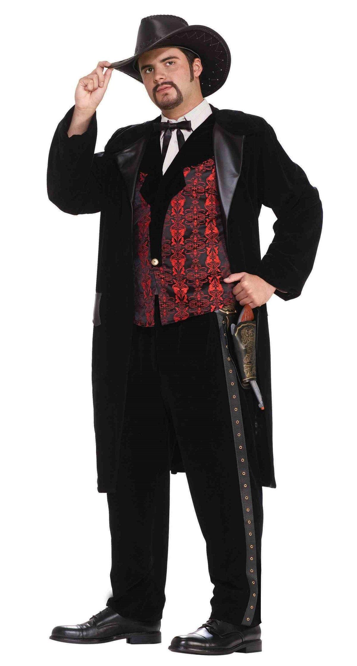 adult gun slinger designer cow boy men deluxe costume