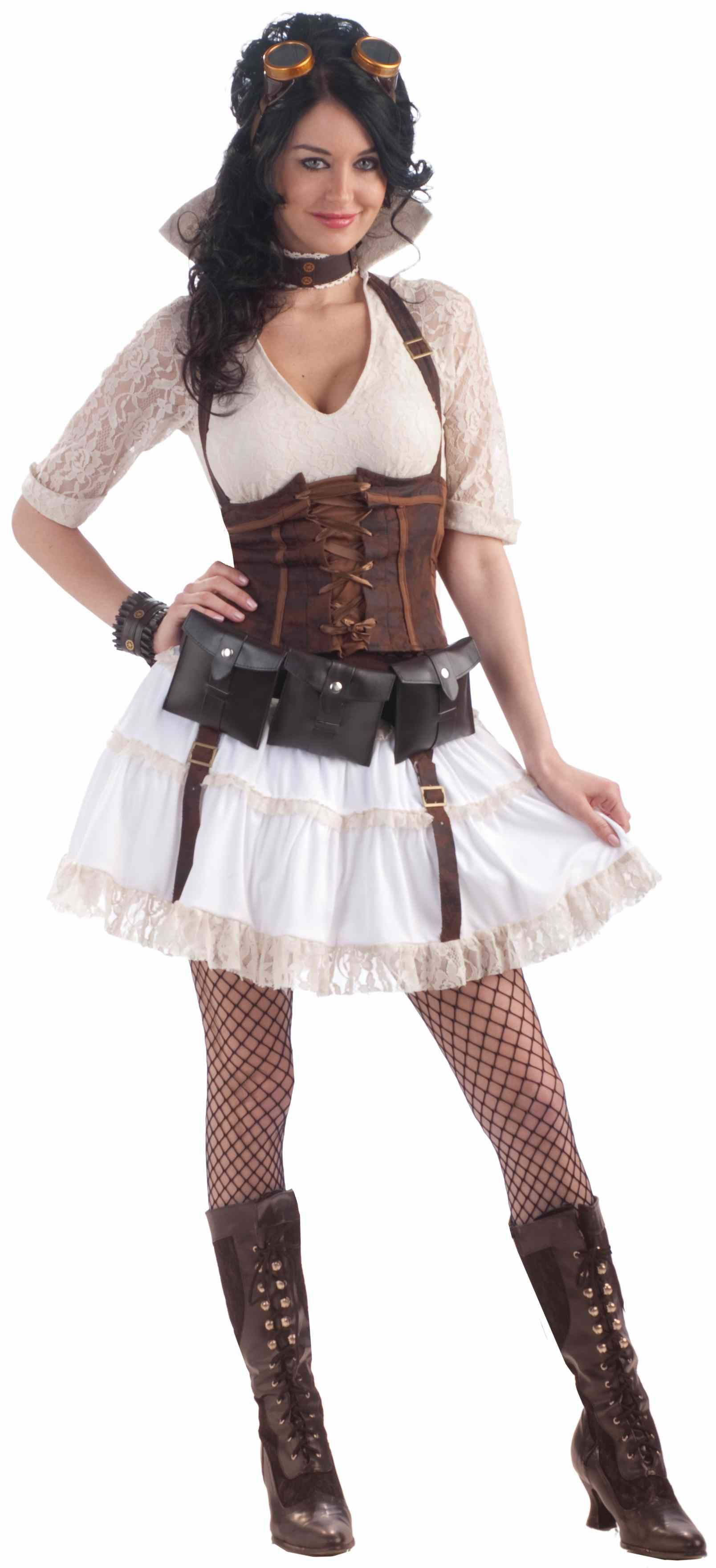 adult steampunk sally woman costume the costume land. Black Bedroom Furniture Sets. Home Design Ideas