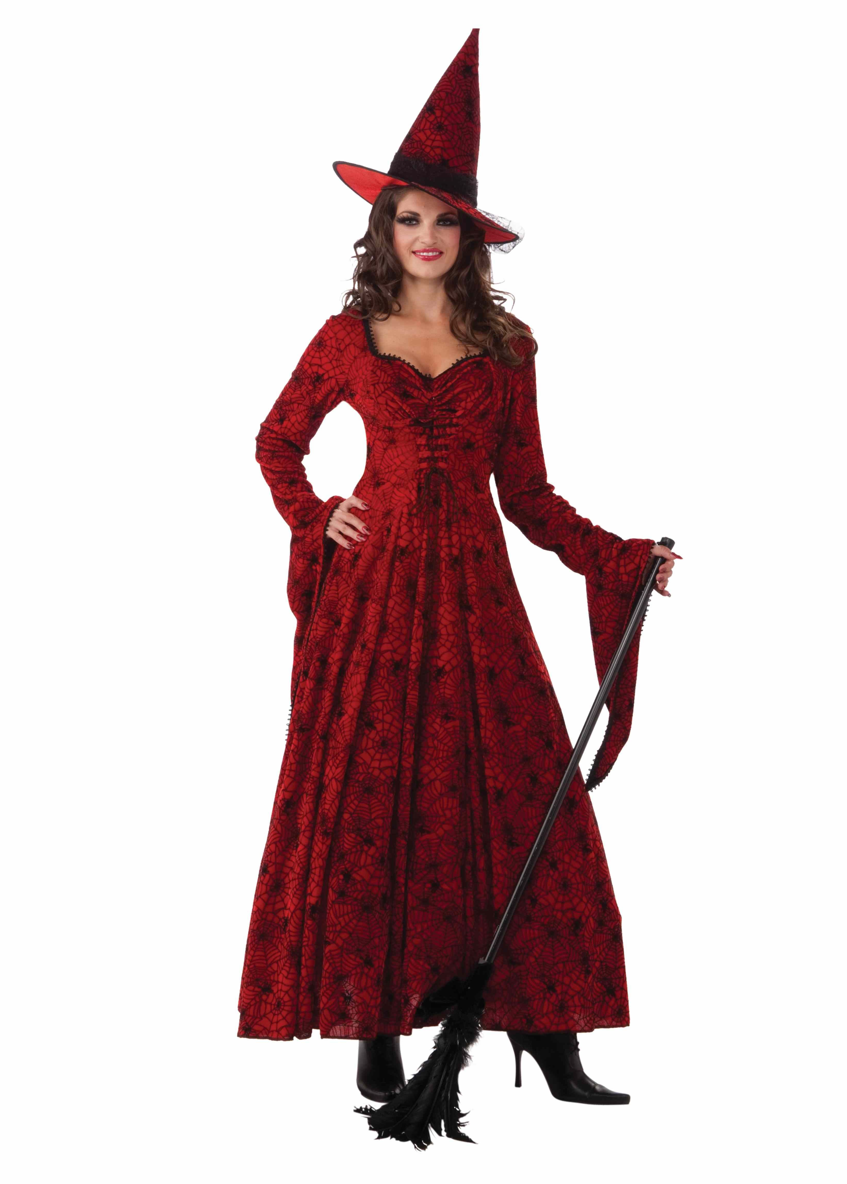 Adult Crimson Spider Web Witch Costume | $40.99 | The Costume Land
