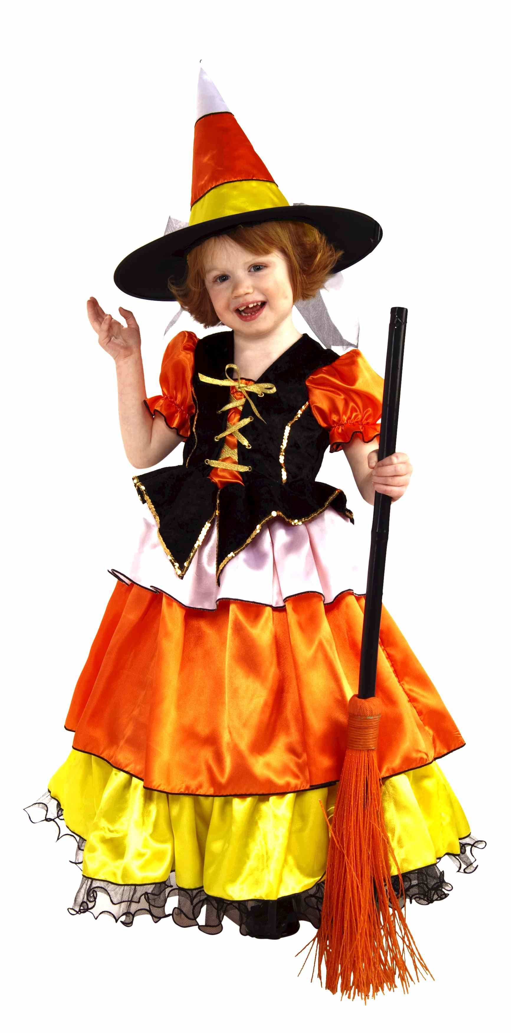 Kids Girls Candy Corn Witch Costume | $33.99 | The Costume Land
