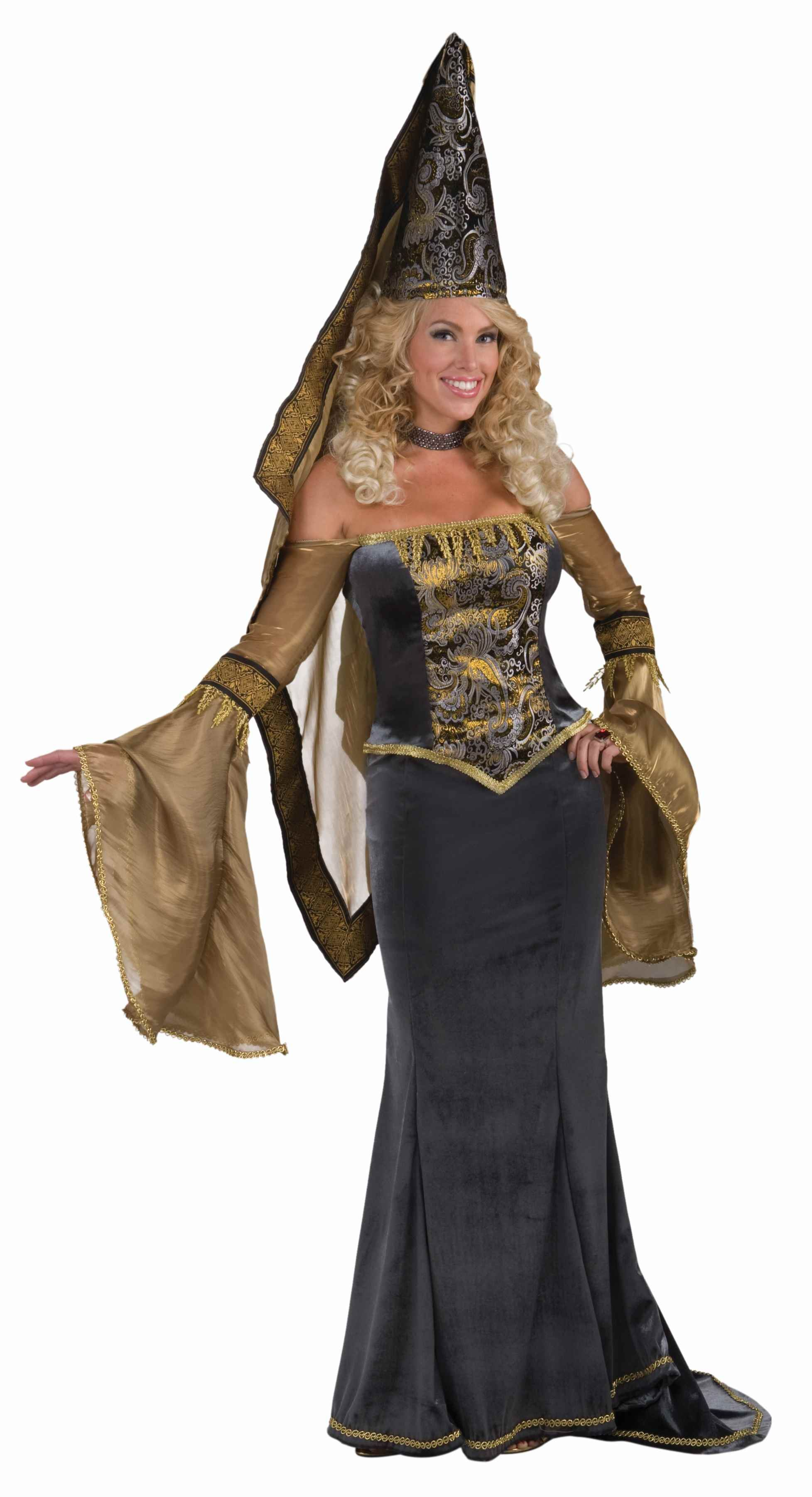 adult medieval maiden women deluxe costume