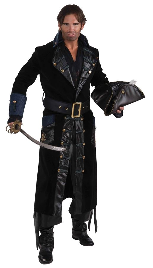 Adult Deluxe Blackbeard Pirate Men Costume  sc 1 st  The Costume Land : cheap pirate halloween costumes  - Germanpascual.Com