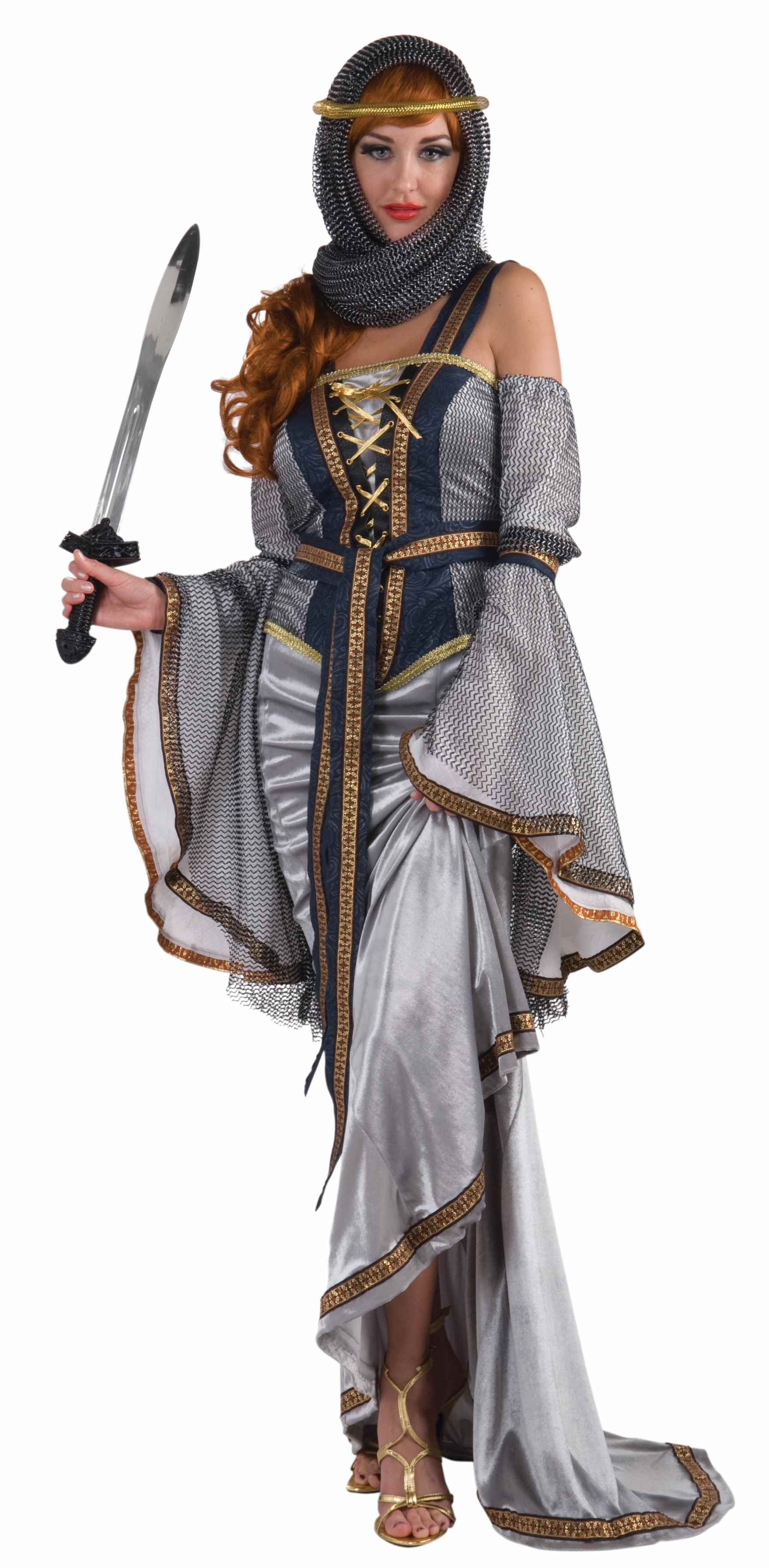 lady of the lake medieval woman costume - Deluxe Halloween Costume