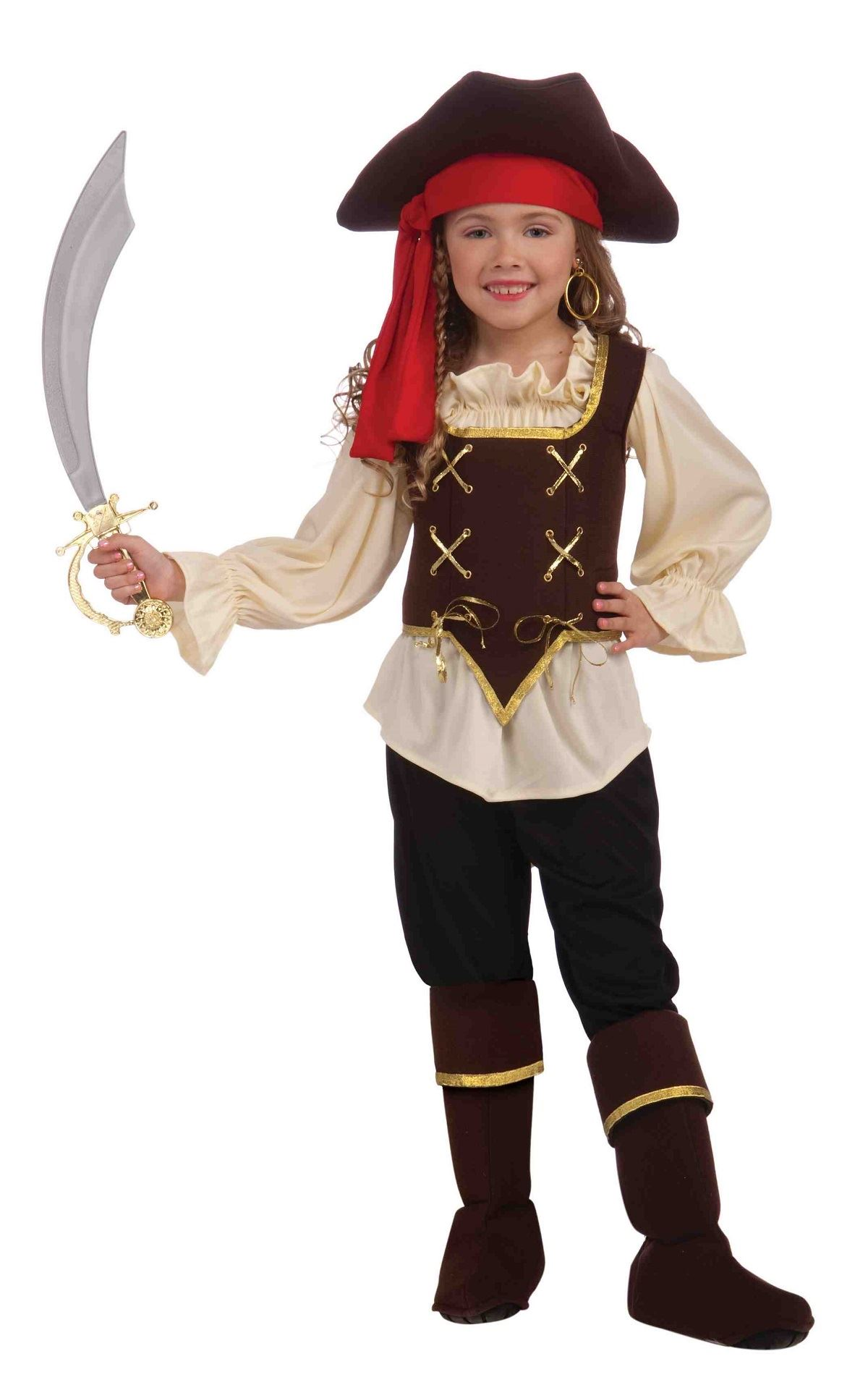 Buccaneer Girl Pirate Costume  sc 1 st  The Costume Land : basic pirate costume  - Germanpascual.Com