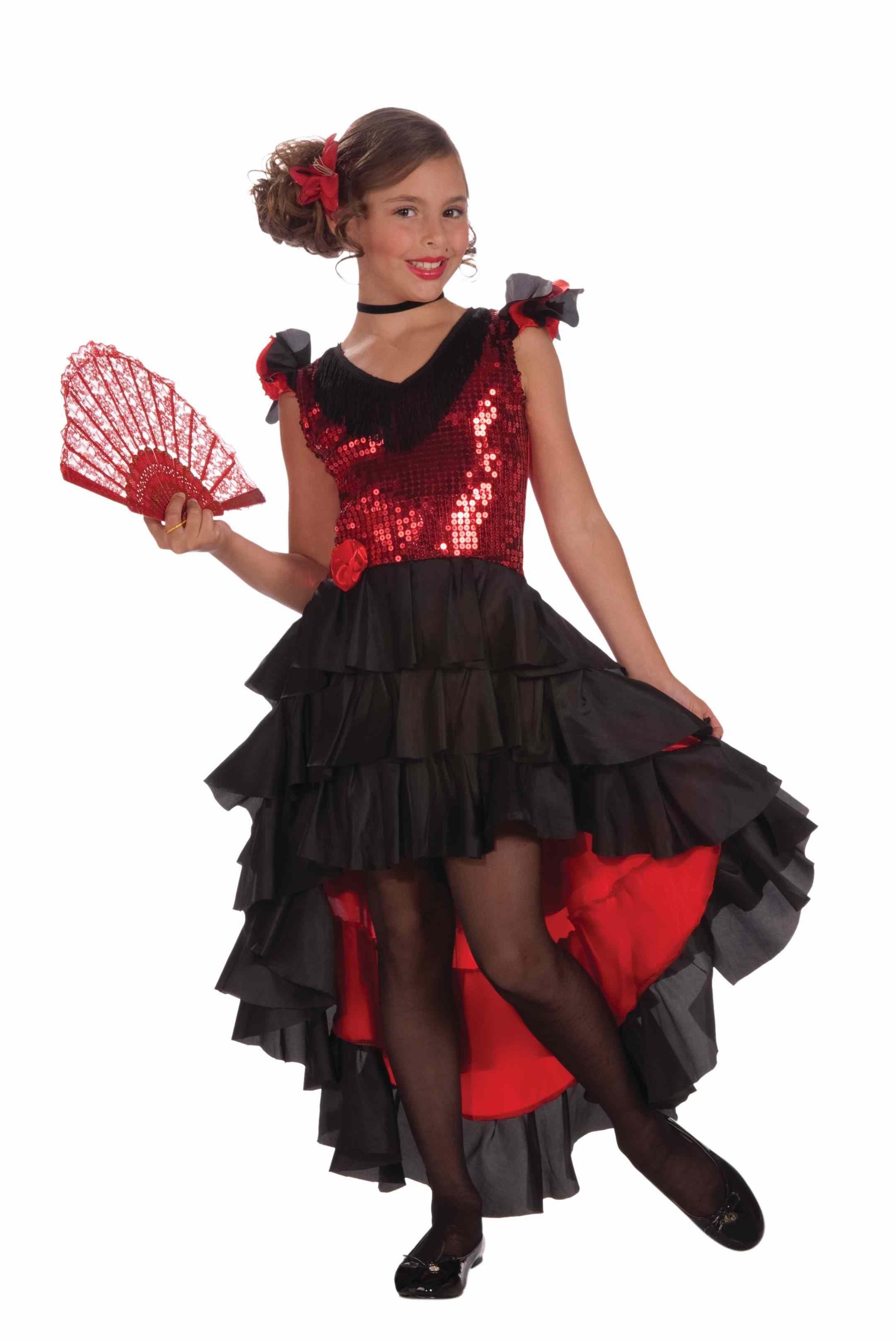 Kids Spanish Dancer Girls Costume   $27.99   The Costume Land
