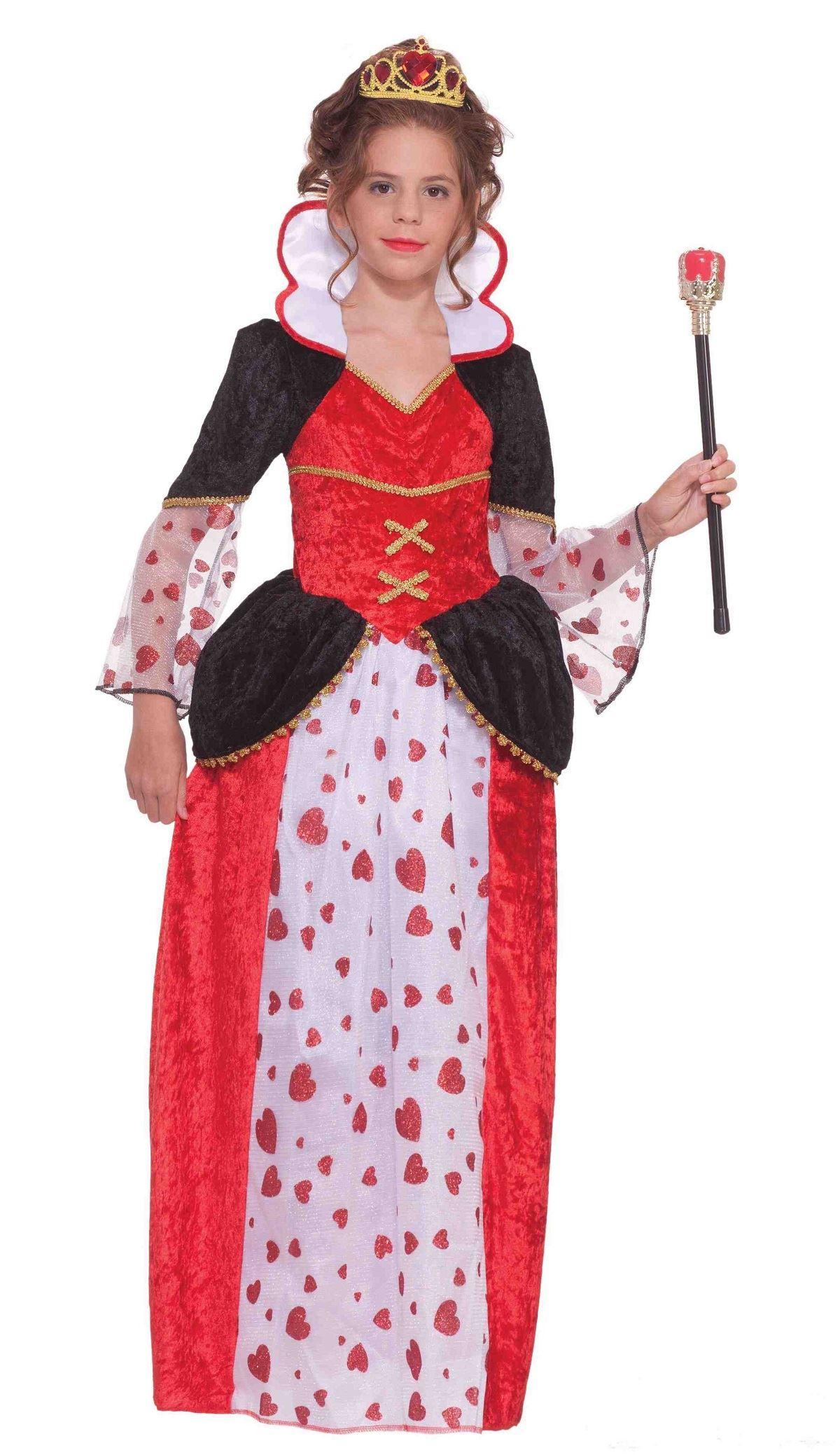 kids queen of hearts tween girls costume