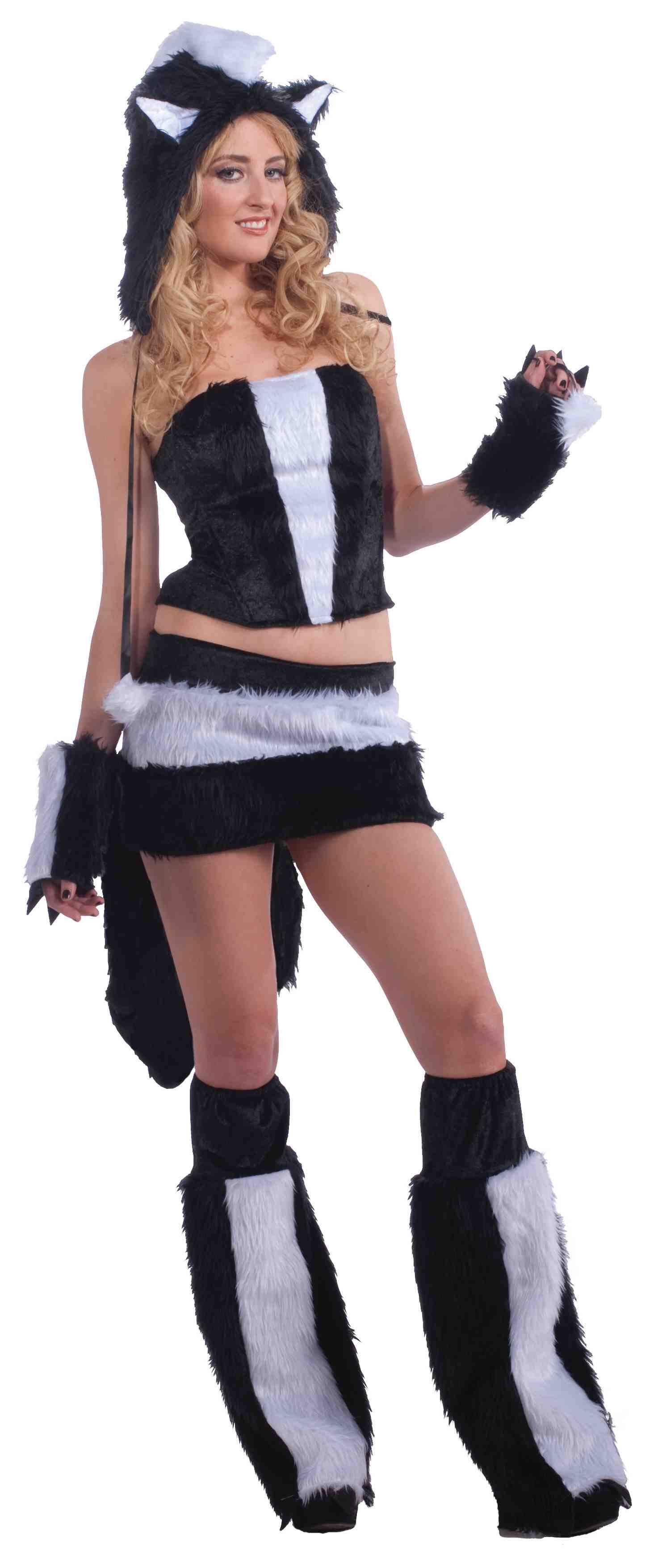 Adult Skunk Women Furry Hood Costume  sc 1 st  The Costume Land & Adult Skunk Women Furry Hood Costume | $38.99 | The Costume Land