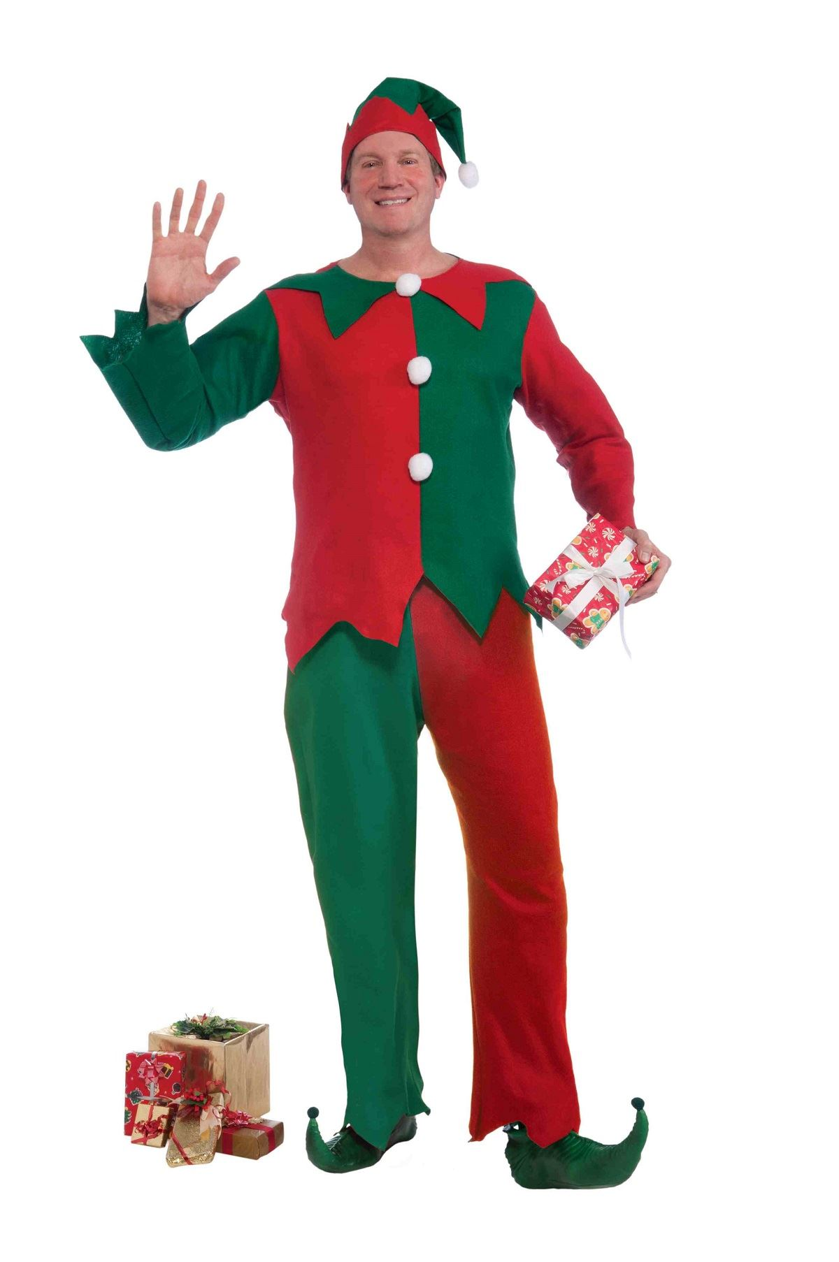 Adult santas elf christmas costume the land