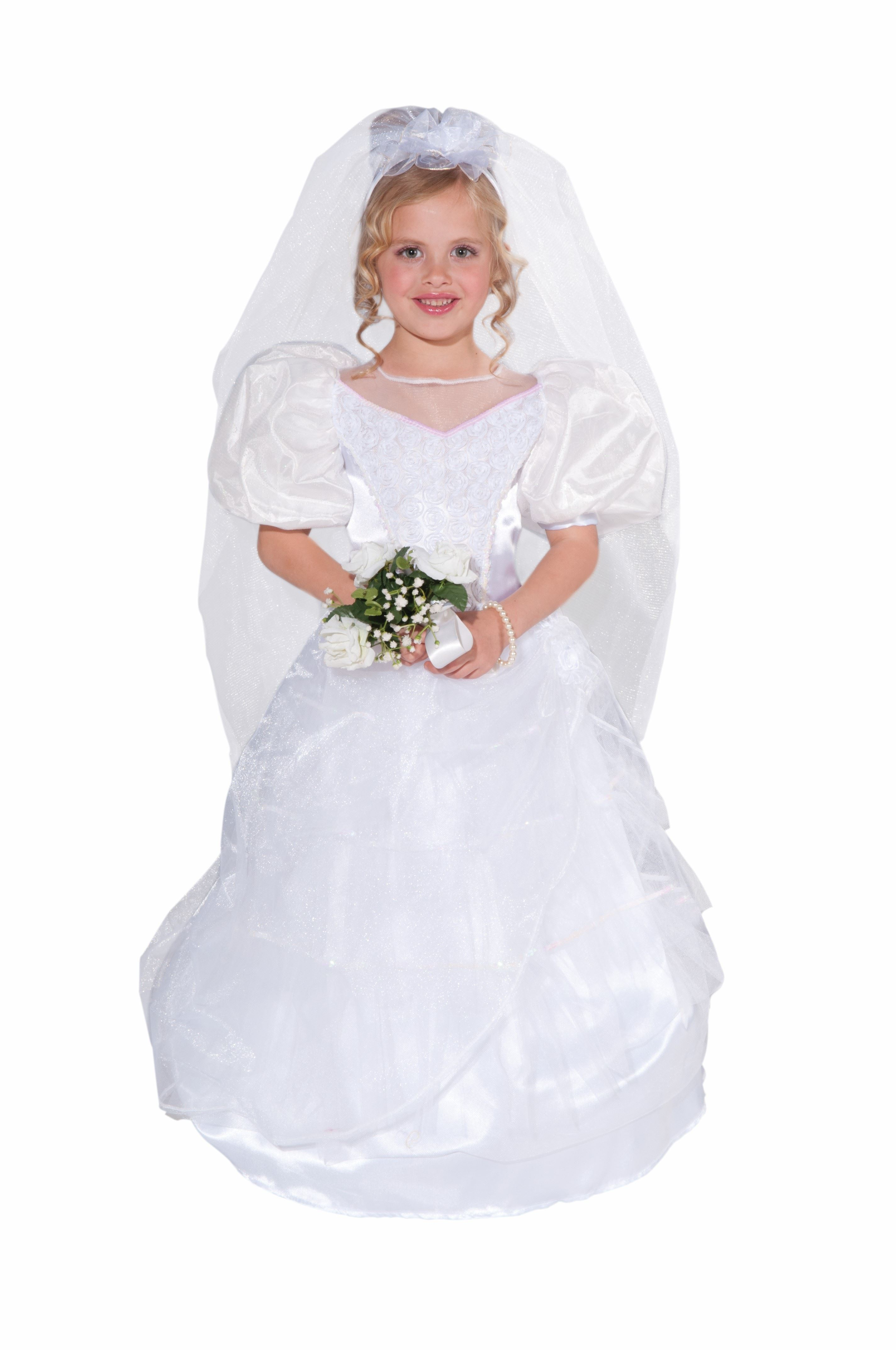 Kids Deluxe Girls Wedding Gown Costume