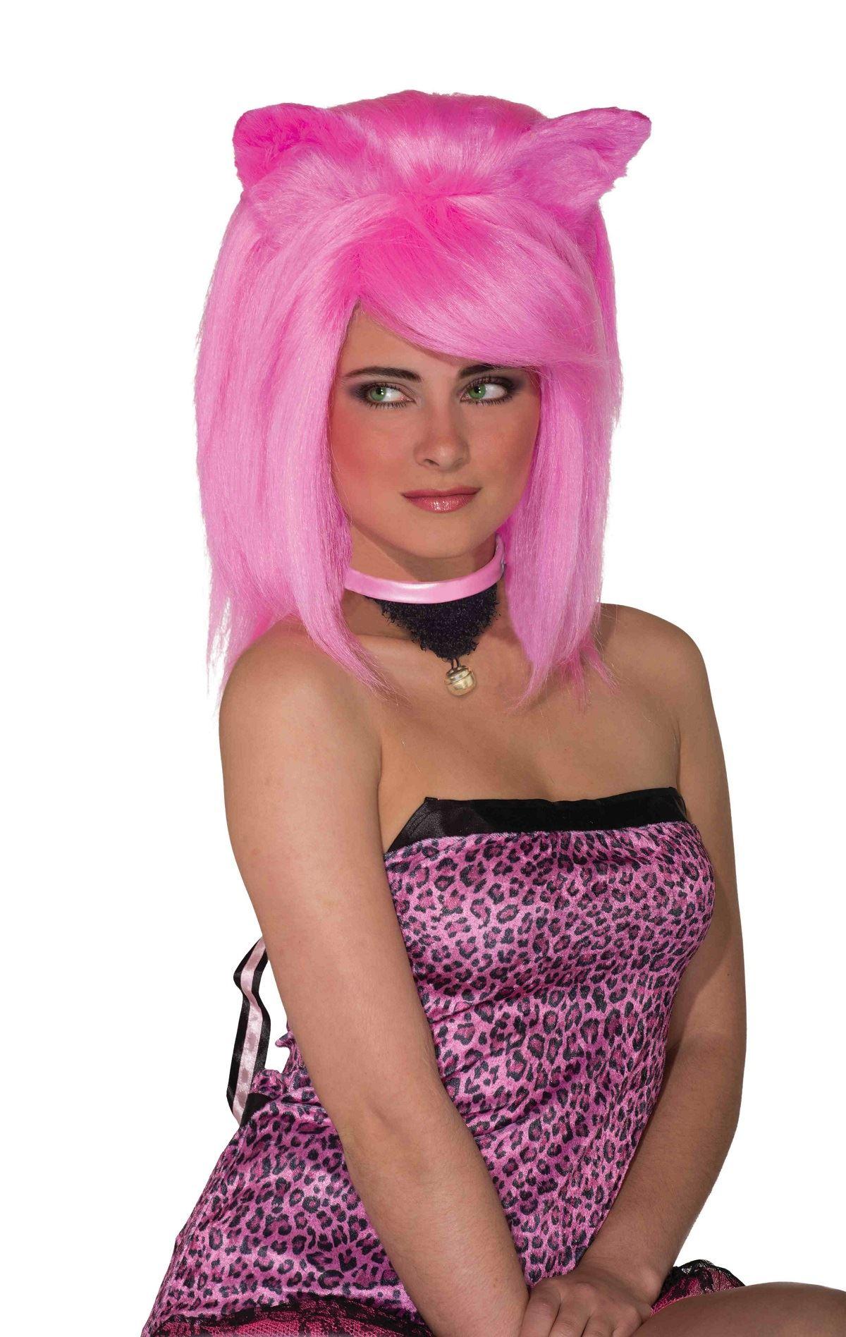 Adult Feline Fantasy Women Hot Pink Wig  sc 1 st  The Costume Land & Adult Feline Fantasy Women Hot Pink Wig | $26.99 | The Costume Land