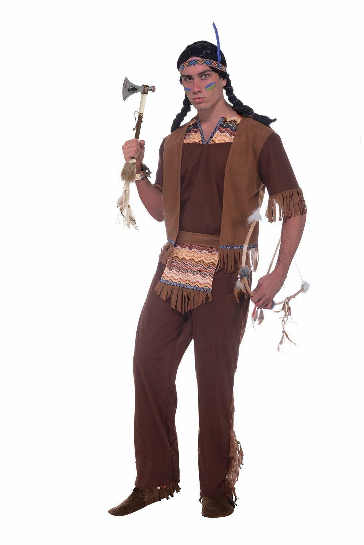 Adult Men Native American Brave Costume | $39.99 | The Costume Land