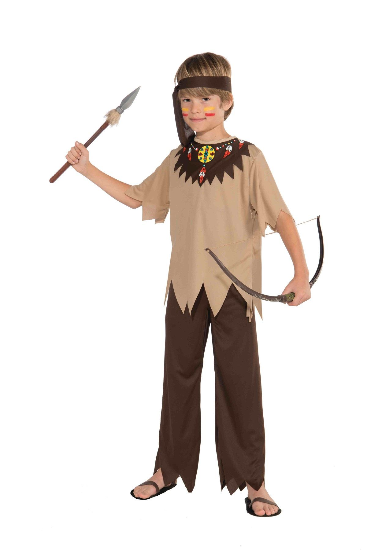 Native American Brave Boys Halloween CostumeNative American Boy Costume