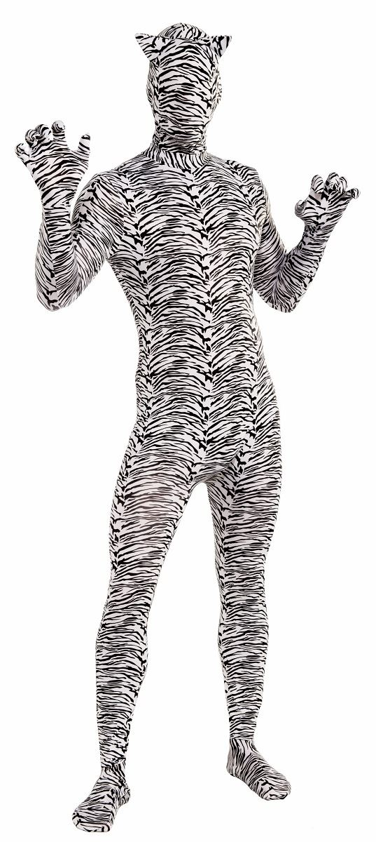 Adult White Tiger Bodysuit  5599  The Costume Land-1142