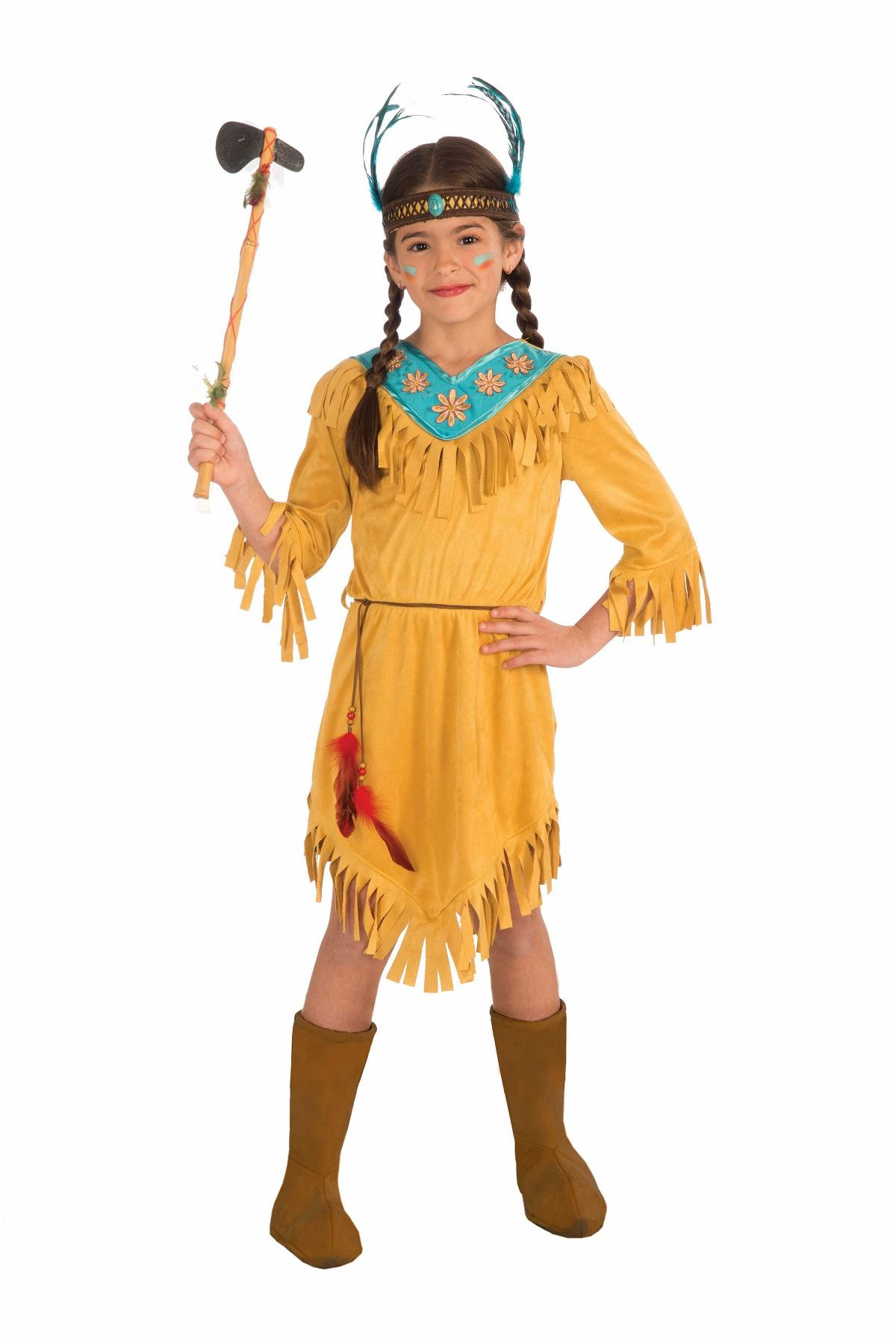 Kids Little Flower Girls Native American Costume  sc 1 st  The Costume Land & Kids Little Flower Girls Native American Costume | $35.99 | The ...