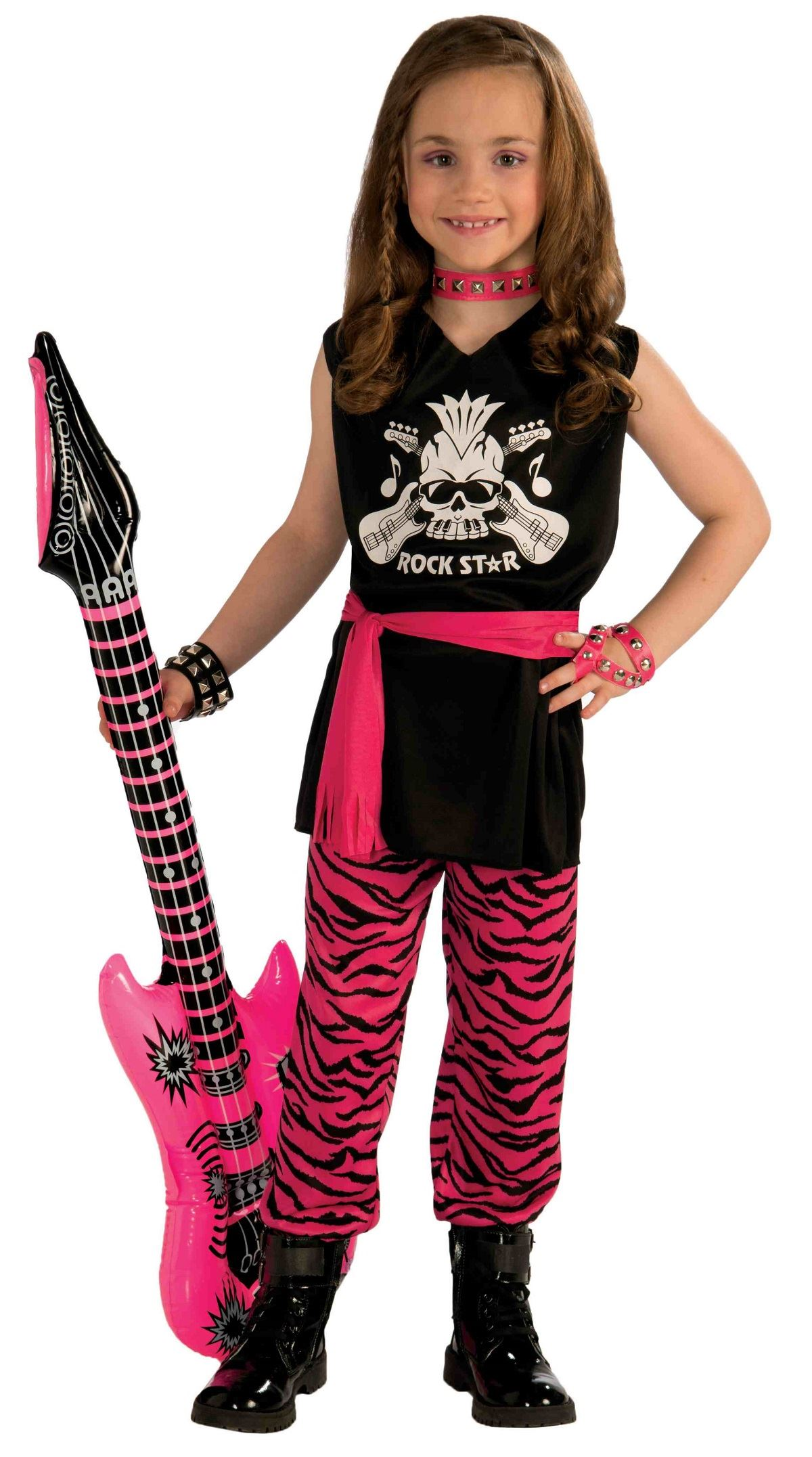 Kids Girls Classic Rock Star 80s Costume