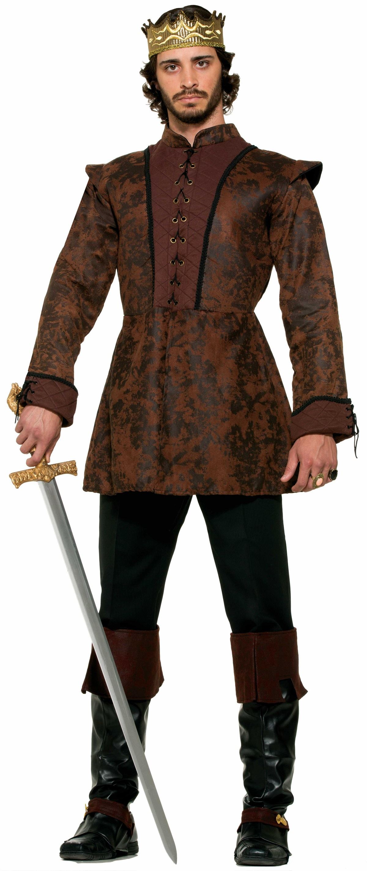 Adult Deluxe Medieval King Men Coat | $49.99 | The Costume ...