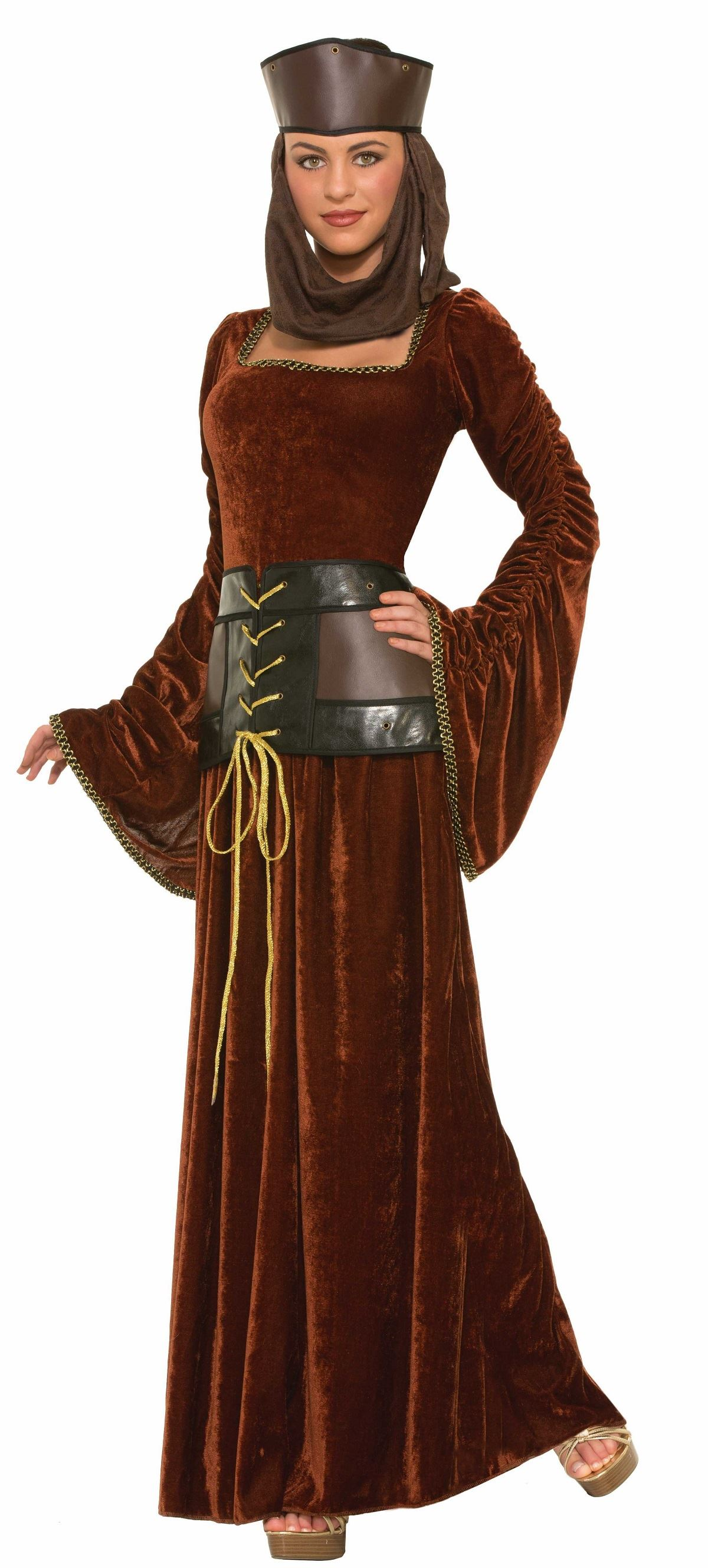 Deluxe Medieval Lady Women Renaissance Queen Halloween ...