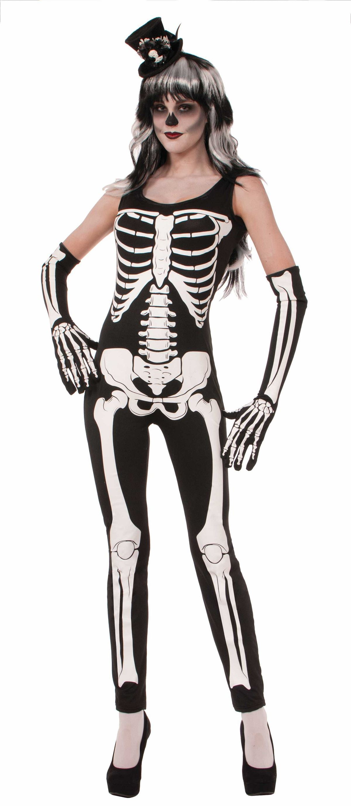 Sexy skeleton bodysuit