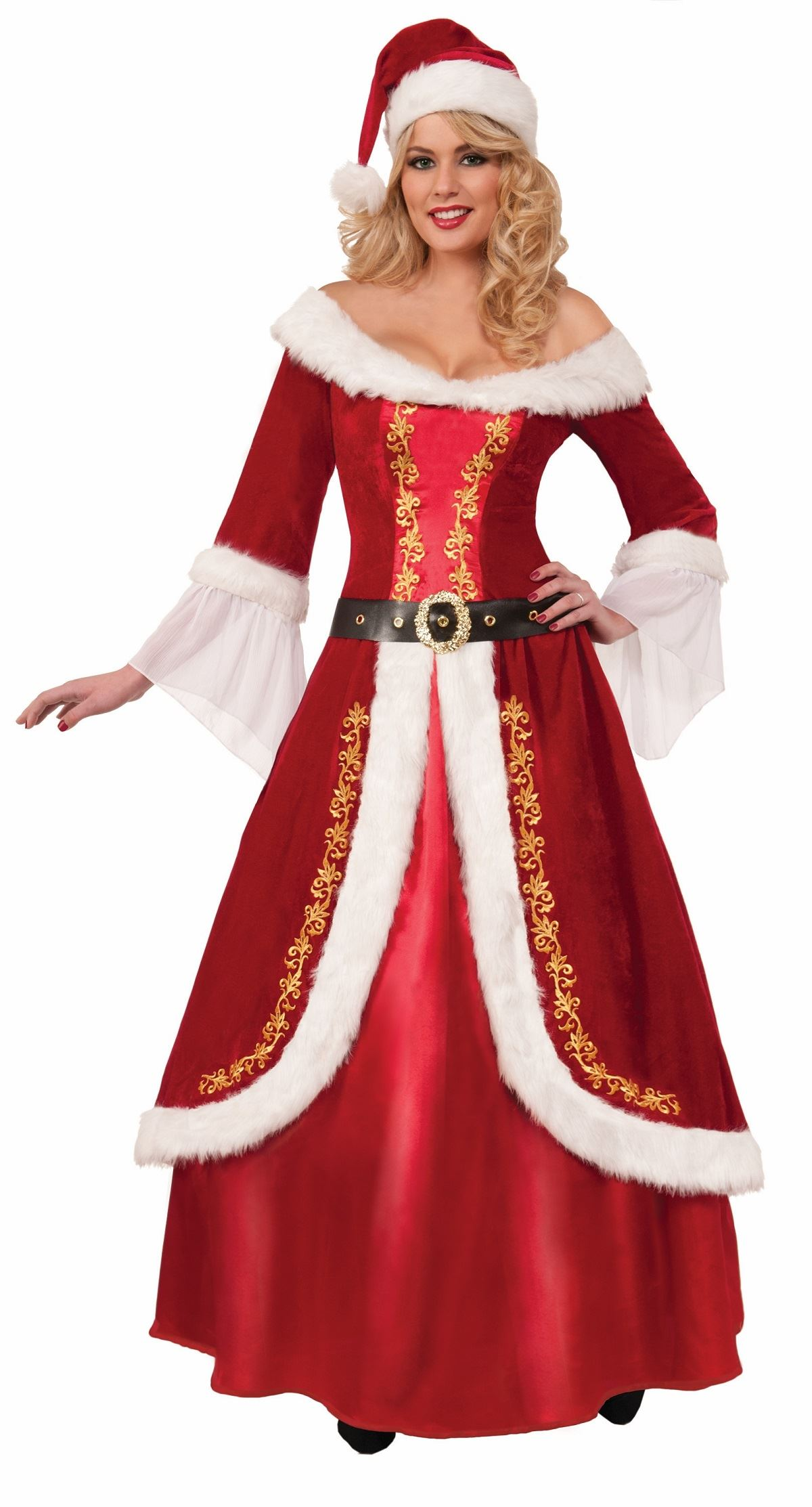 adult santa mrs claus deluxe woman christmas costume - Christmas Costume