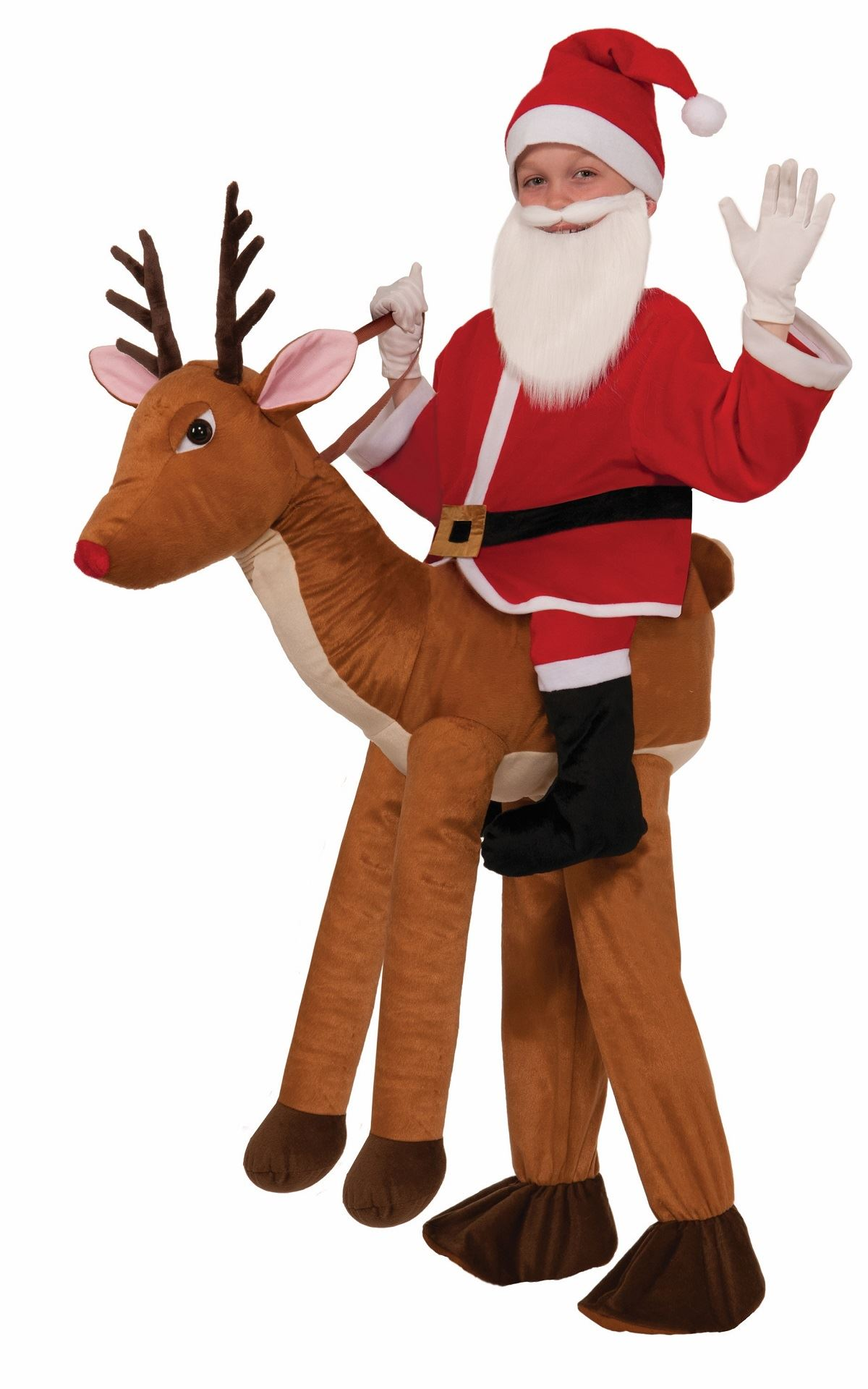 Santa Claus Ride a Reindeer Kids Halloween Costume  5499  The