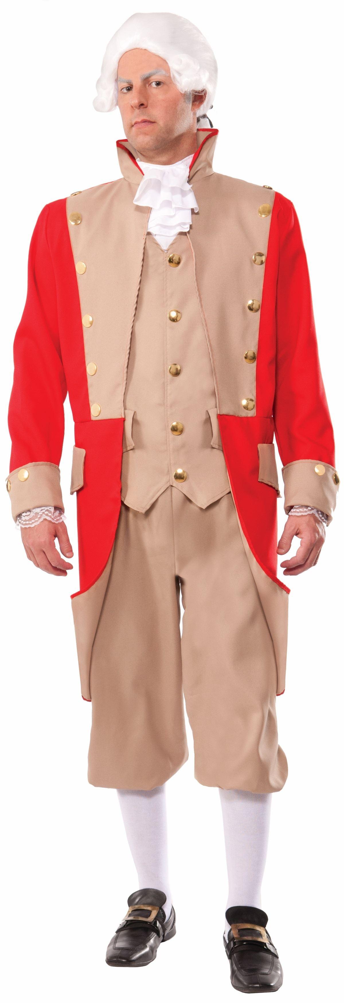 Adult British Red Coat Men General Costume | $65.99 | The Costume Land