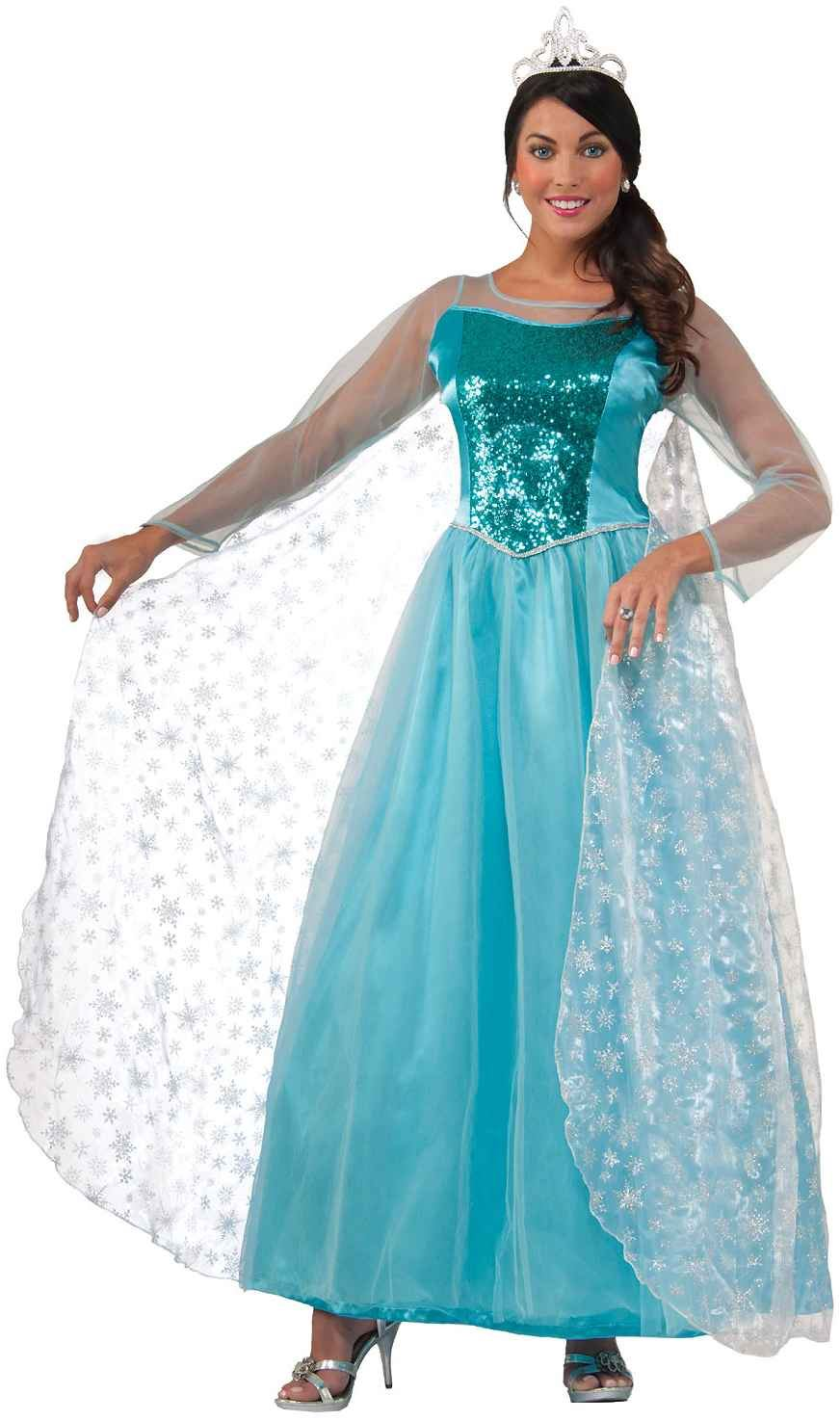 adult princess krystal woman snow queen costume 4699