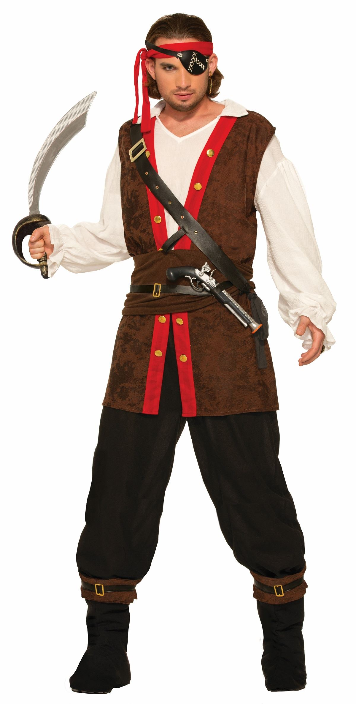 Adult Bucaneer Of The Seas Men Pirate Costume  sc 1 st  The Costume Land & Adult Bucaneer Of The Seas Men Pirate Costume | $53.99 | The Costume ...