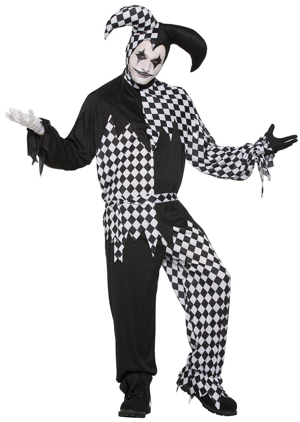 Adult Dark Jester Men Costume | $44.99 | The Costume Land