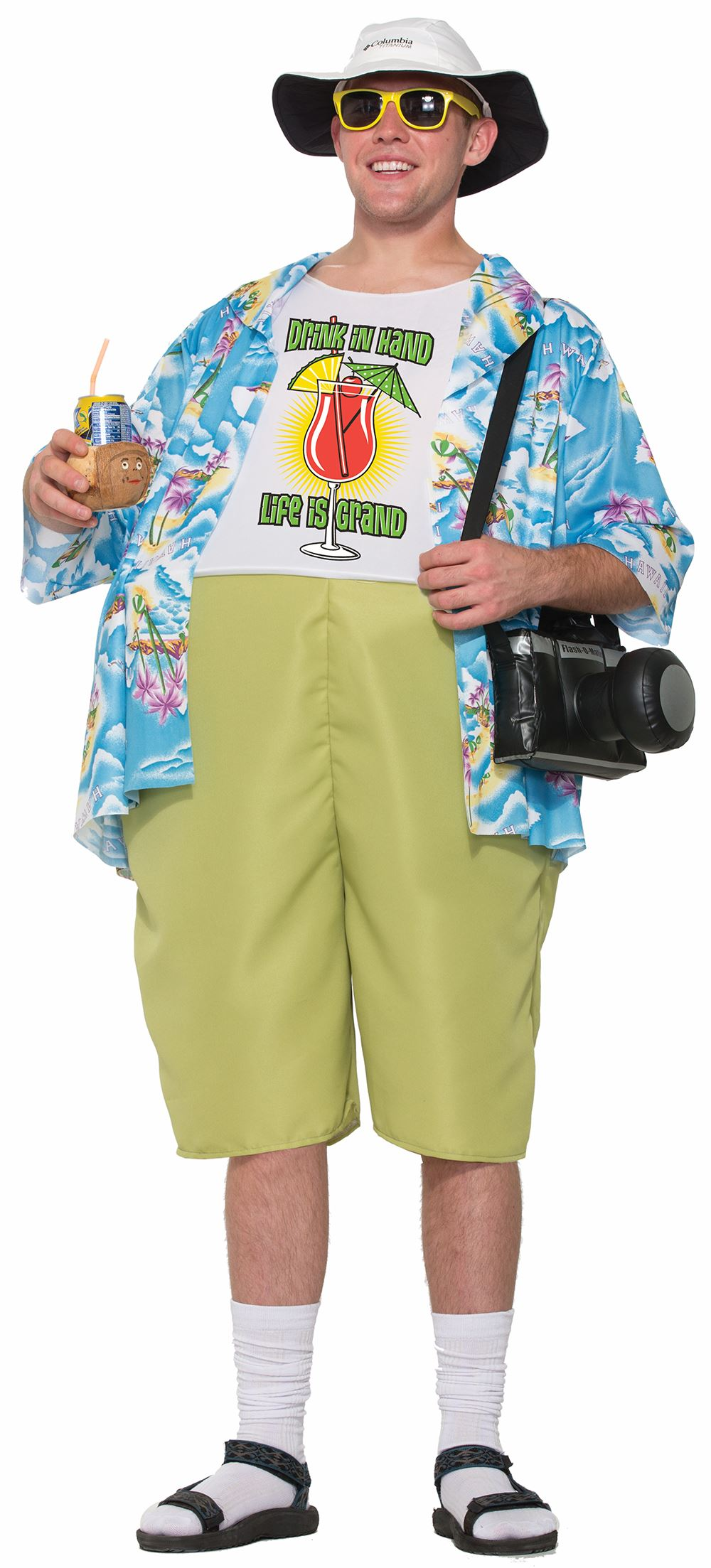 adult tropical tourist couple funny costume | $28.99 | the costume land