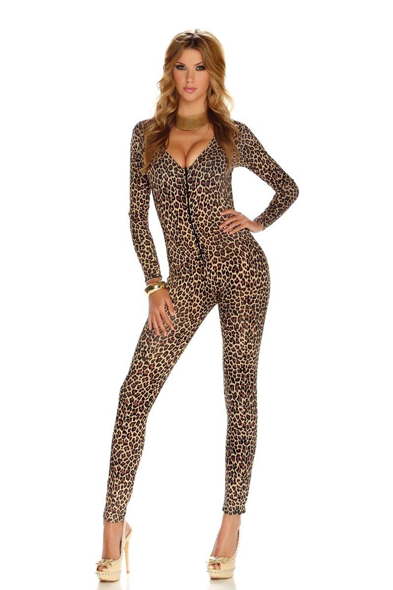 Adult Leopard Print Women Bodysuit Costume ...  sc 1 st  The Costume Land & Adult Leopard Print Women Bodysuit Costume | $60.99 | The Costume Land