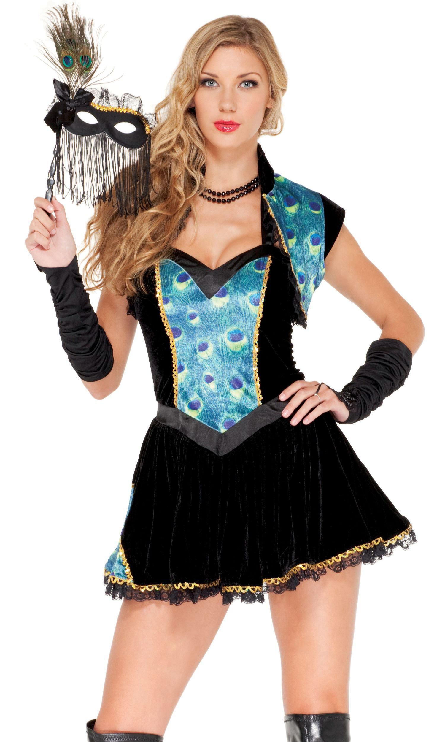 Peacock Masquerade Women Halloween Costume   $79.99   The Costume Land