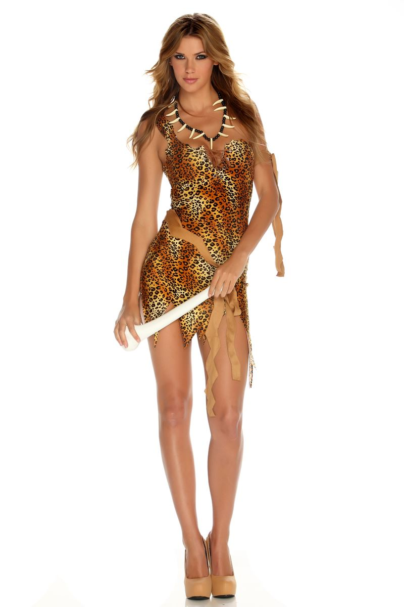 Adult Survival Of The Fiercest Woman Cavewoman Costume | $43.99 ...