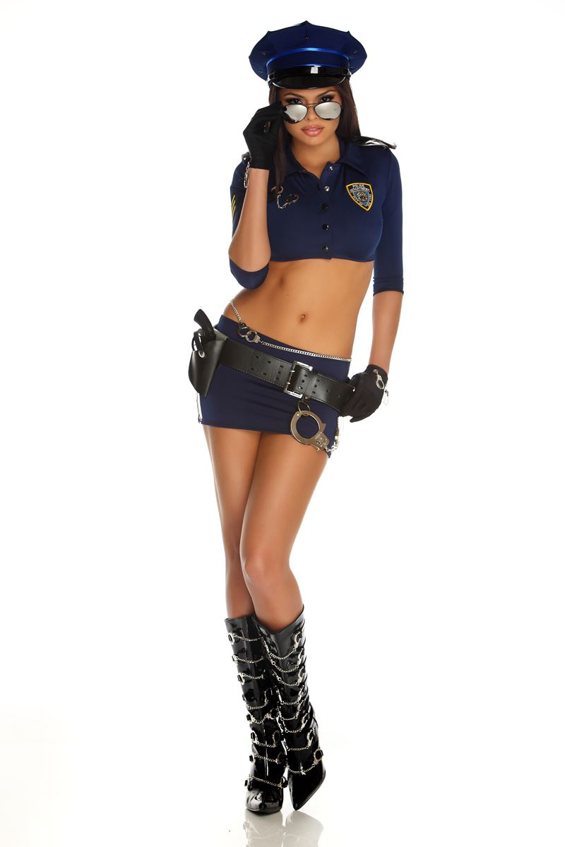 The message Adult cop costume have
