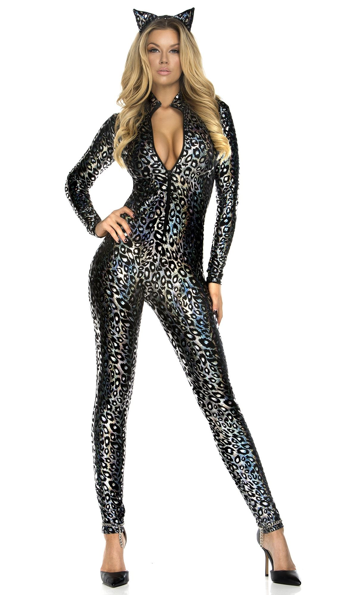 Sexy Animal Urban Jungle Leopard Print Cat Cheetah Adult Halloween Costume-Std See more like this Roma 2 Piece Cheeky Cheetah Leopard Sexy Cougar Bodysuit Halloween Costume MED Pre-Owned.
