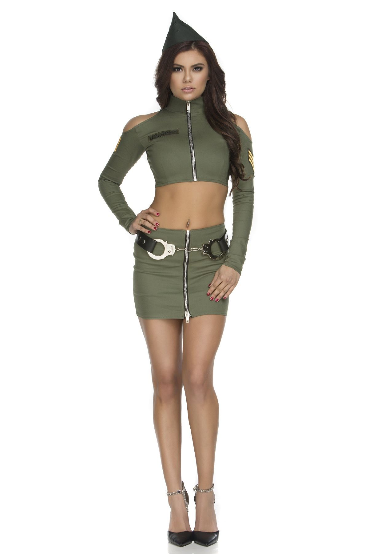 Can sexy army girl costume
