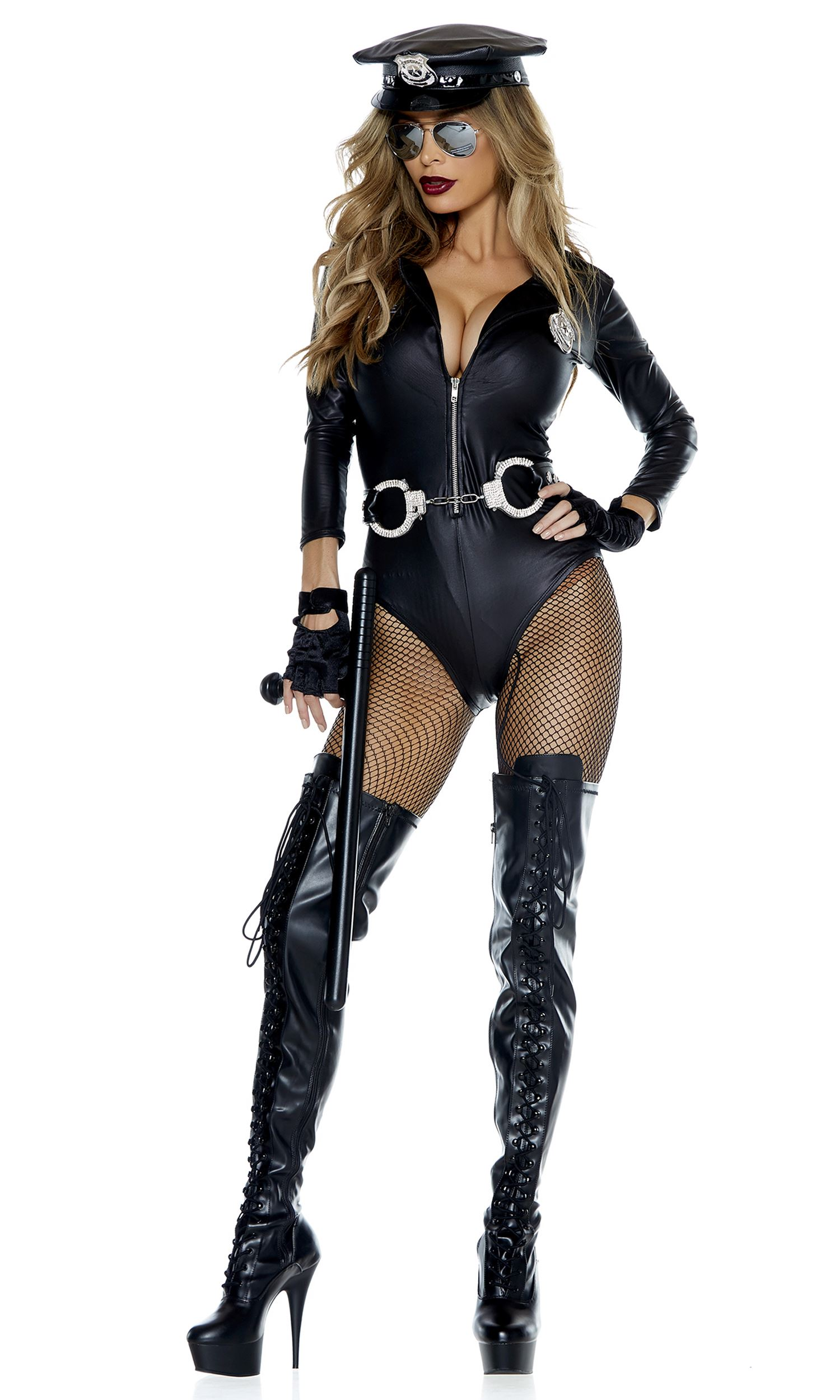 adult do not cross cop woman costume | $61.99 | the costume land