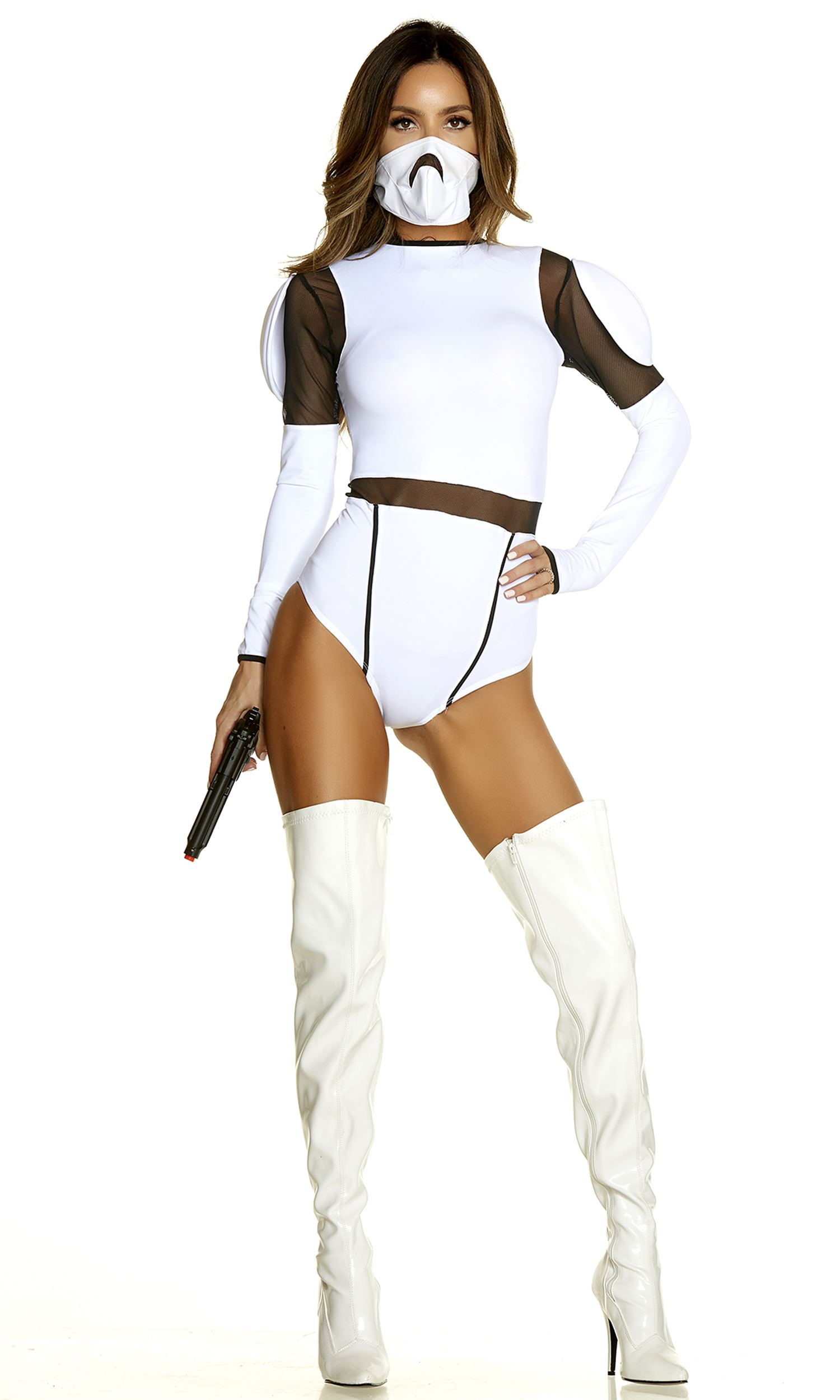 Adult Space Trooper Woman Movie Character Costume
