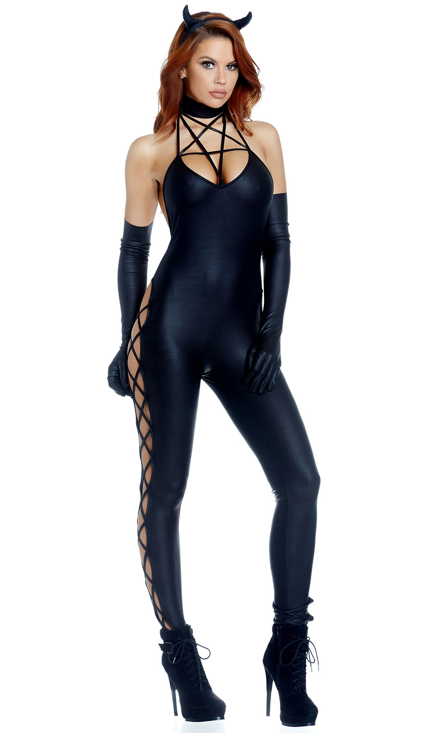 Adult Guilty Pleasure Woman Catsuit Costume ...  sc 1 st  The Costume Land & Adult Guilty Pleasure Woman Catsuit Costume | $59.99 | The Costume Land