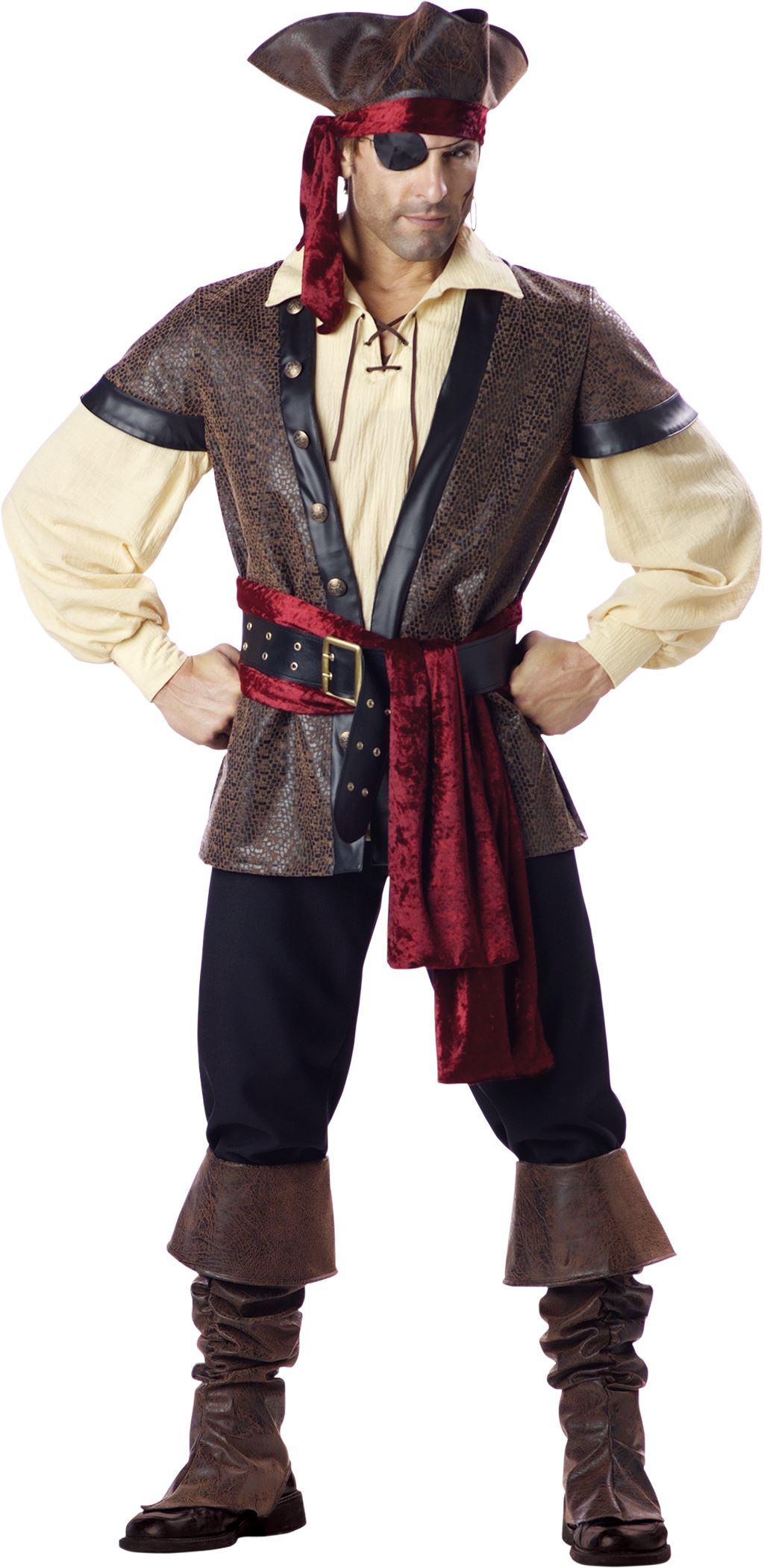 Adult Men Rustic Pirate Deluxe Men Costume | $129.99 | The Costume Land
