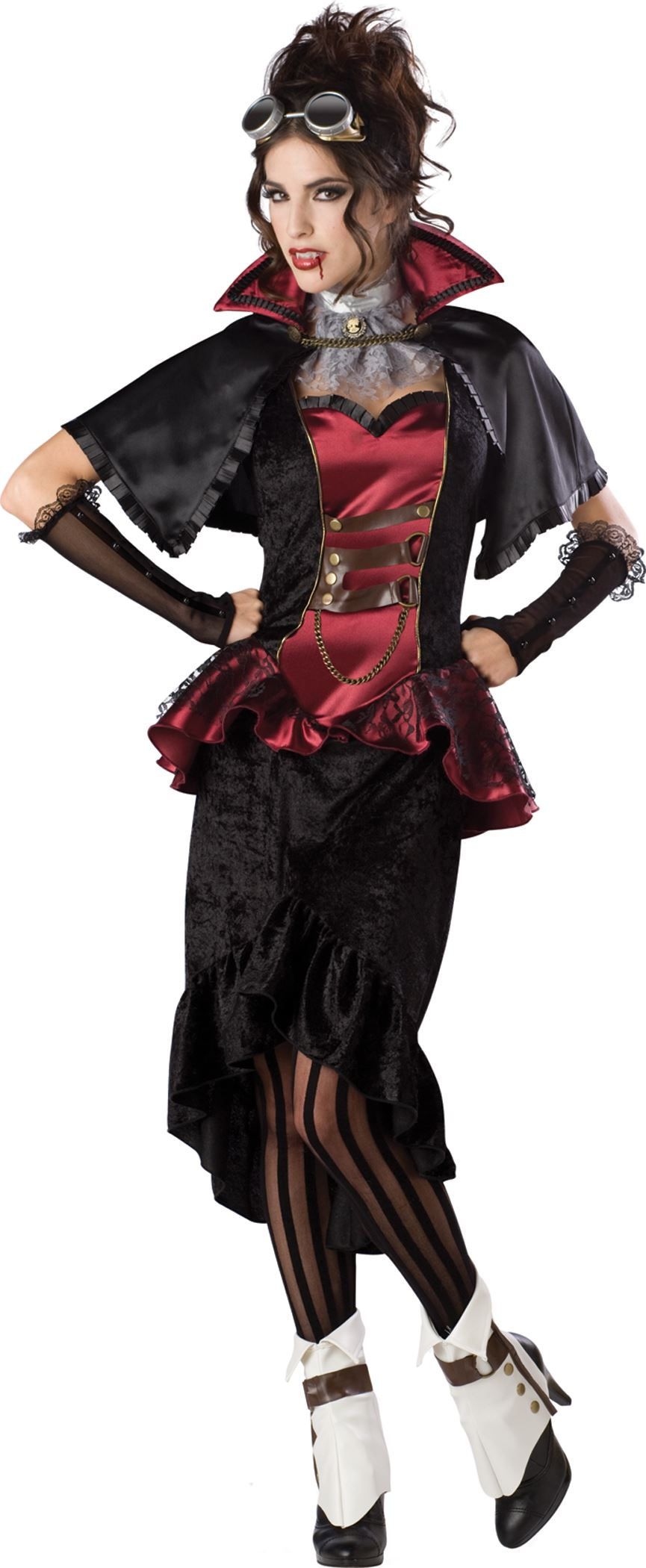 adult steampunk vampiress women deluxe costume