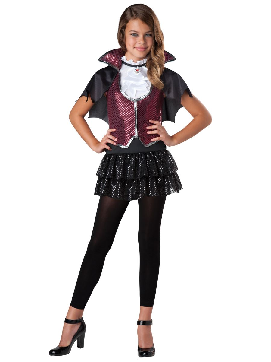 Halloween Vampire Costume Kids.Kids Glampiress Girls Vampire Halloween Costume