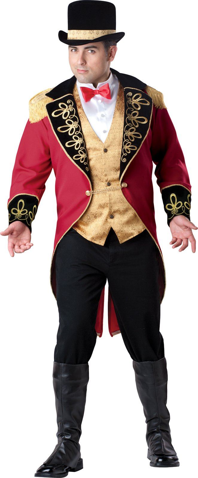 Plus Deluxe Men Ring Master Halloween Costume 16199 The