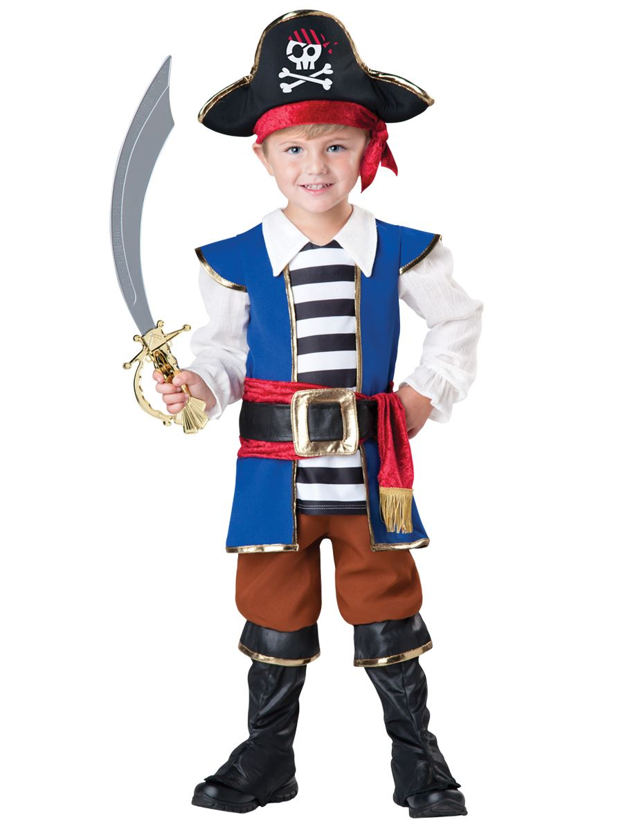 Kids Pirate Boy Toddler Deluxe Costume ...  sc 1 st  The Costume Land : pirate costume toddler  - Germanpascual.Com