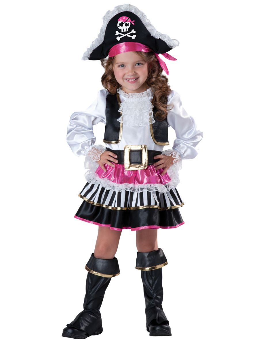 kids pirate girl deluxe toddler costume the costume land. Black Bedroom Furniture Sets. Home Design Ideas