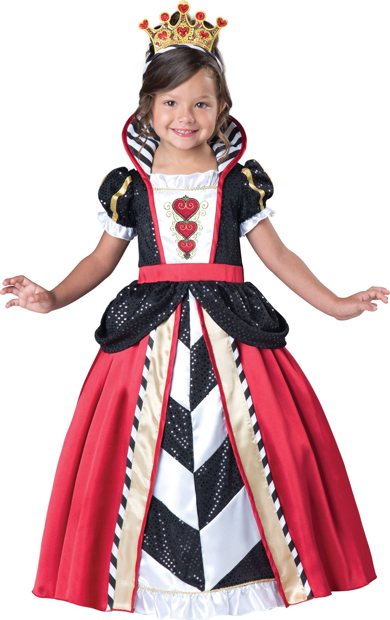 Kids Queen Of Hearts Girls Toddler Costume 54 99 The