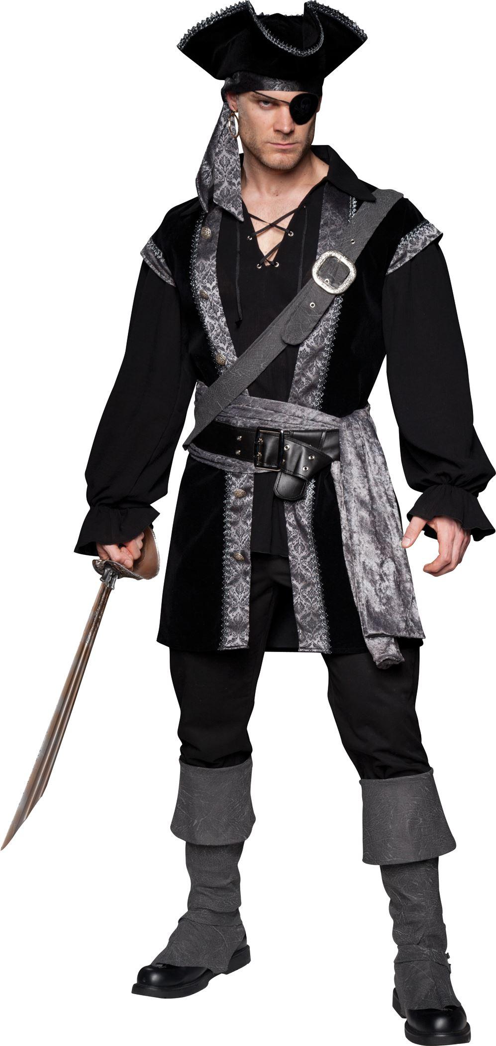 high seas rogue men pirate deluxe halloween costume - Deluxe Halloween Costume