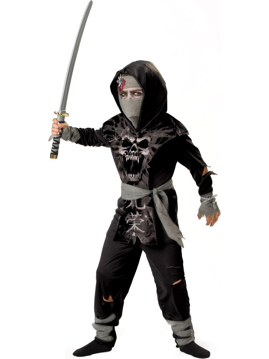 kids dark zombie ninja boys costume 4199 the costume